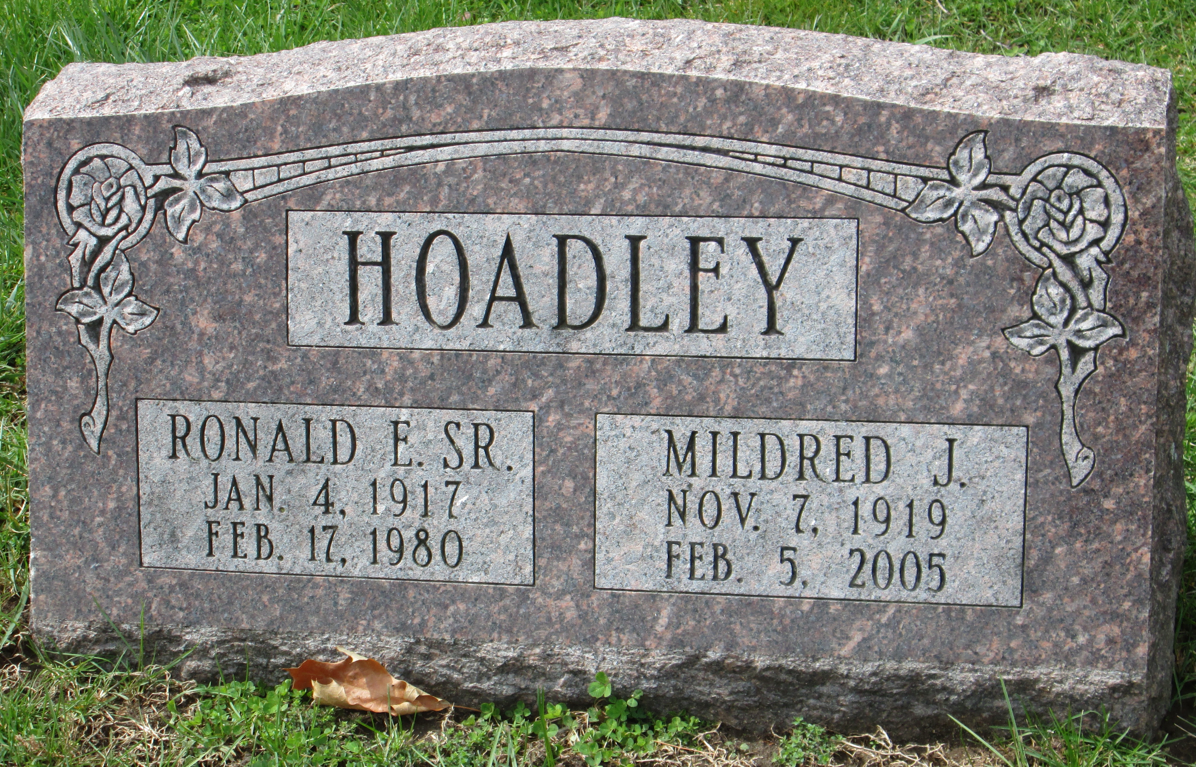 Ronald E. Hoadley, Sr