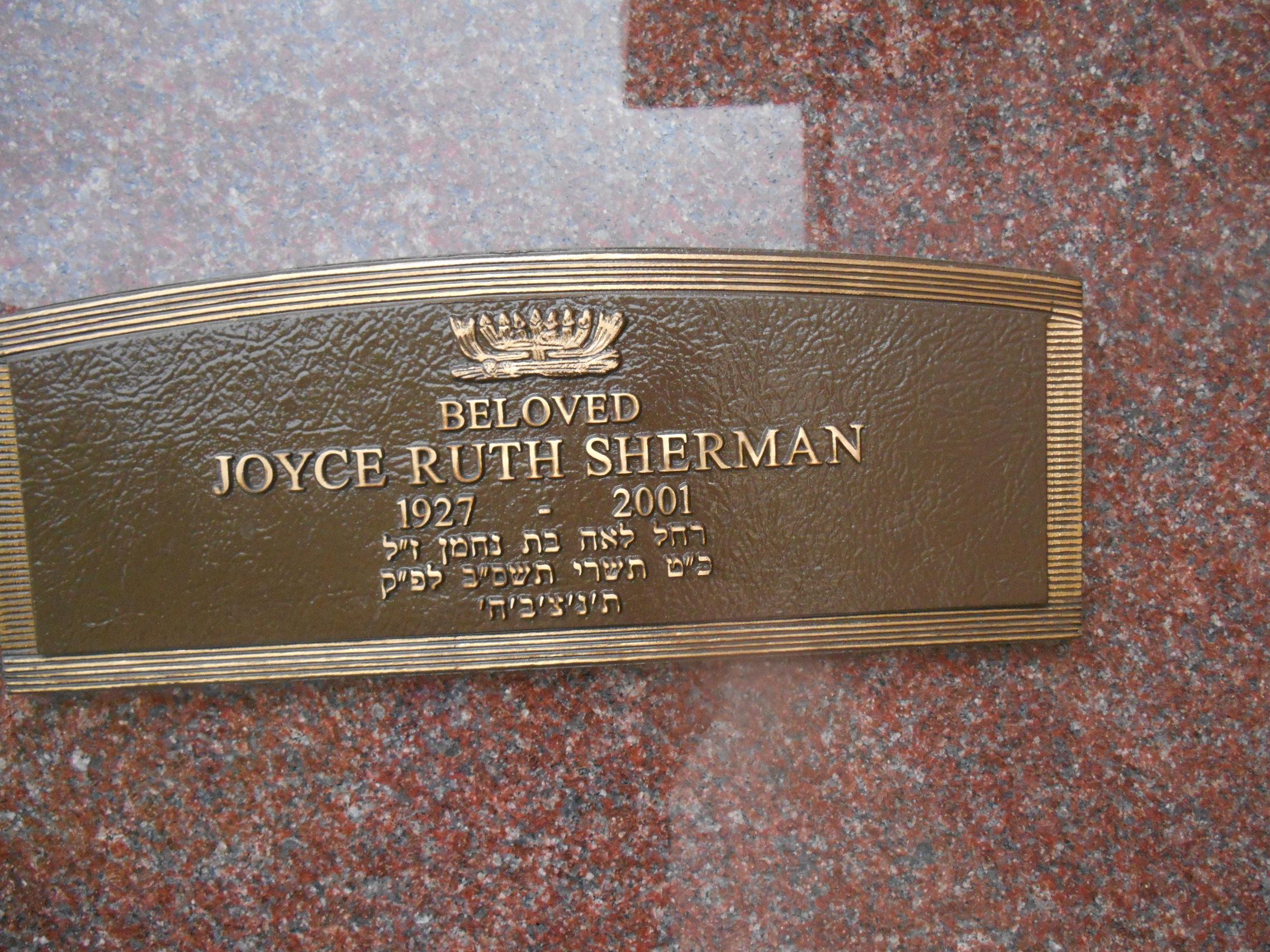 Joyce Ruth <i>Sasner</i> Sherman