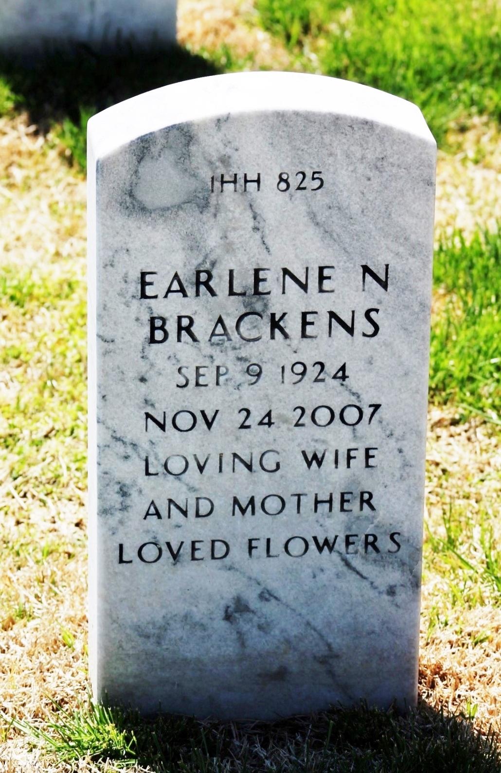 Earlene <i>Norman</i> Brackens