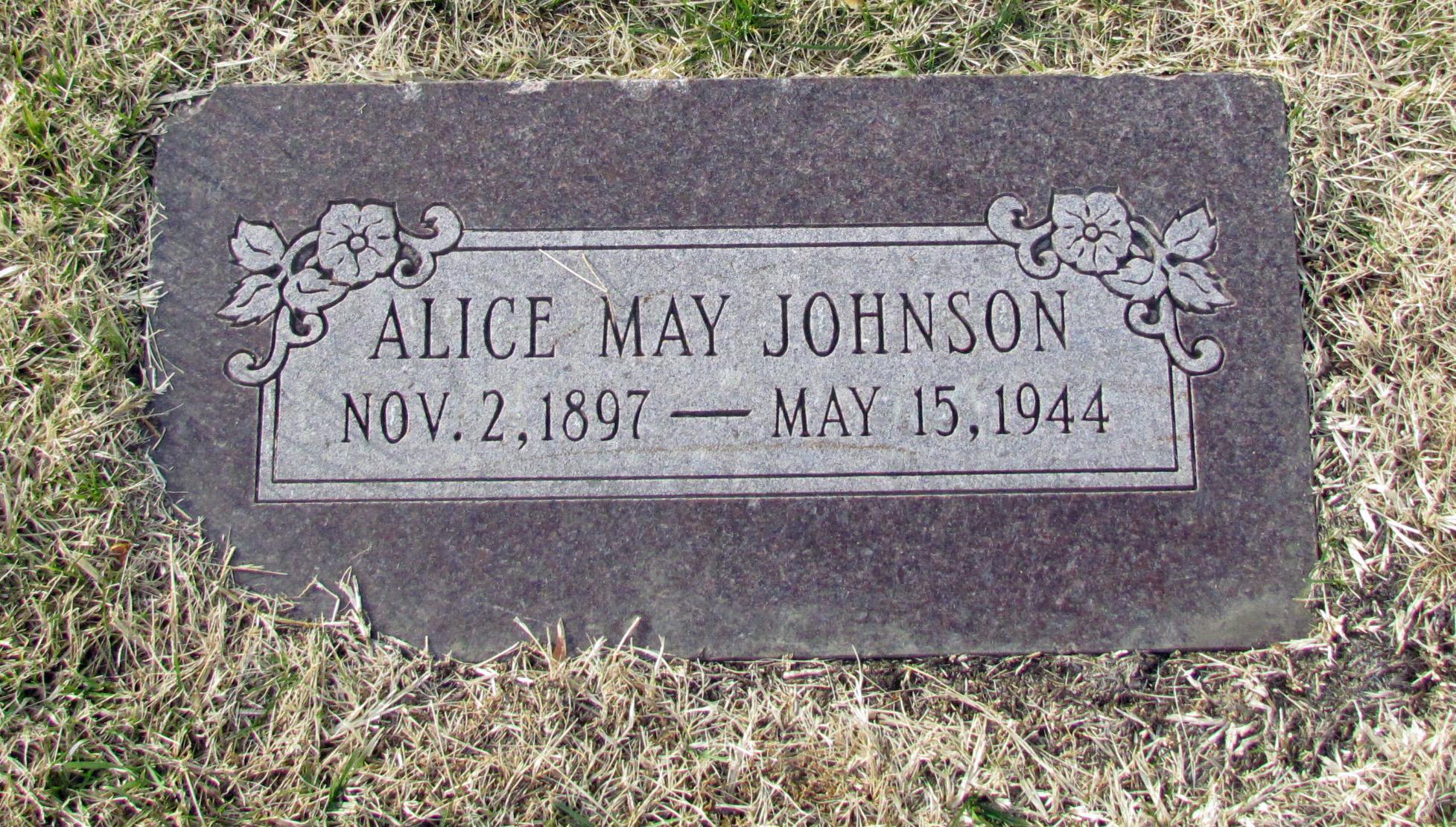 Alice Marvel <i>May</i> Johnson