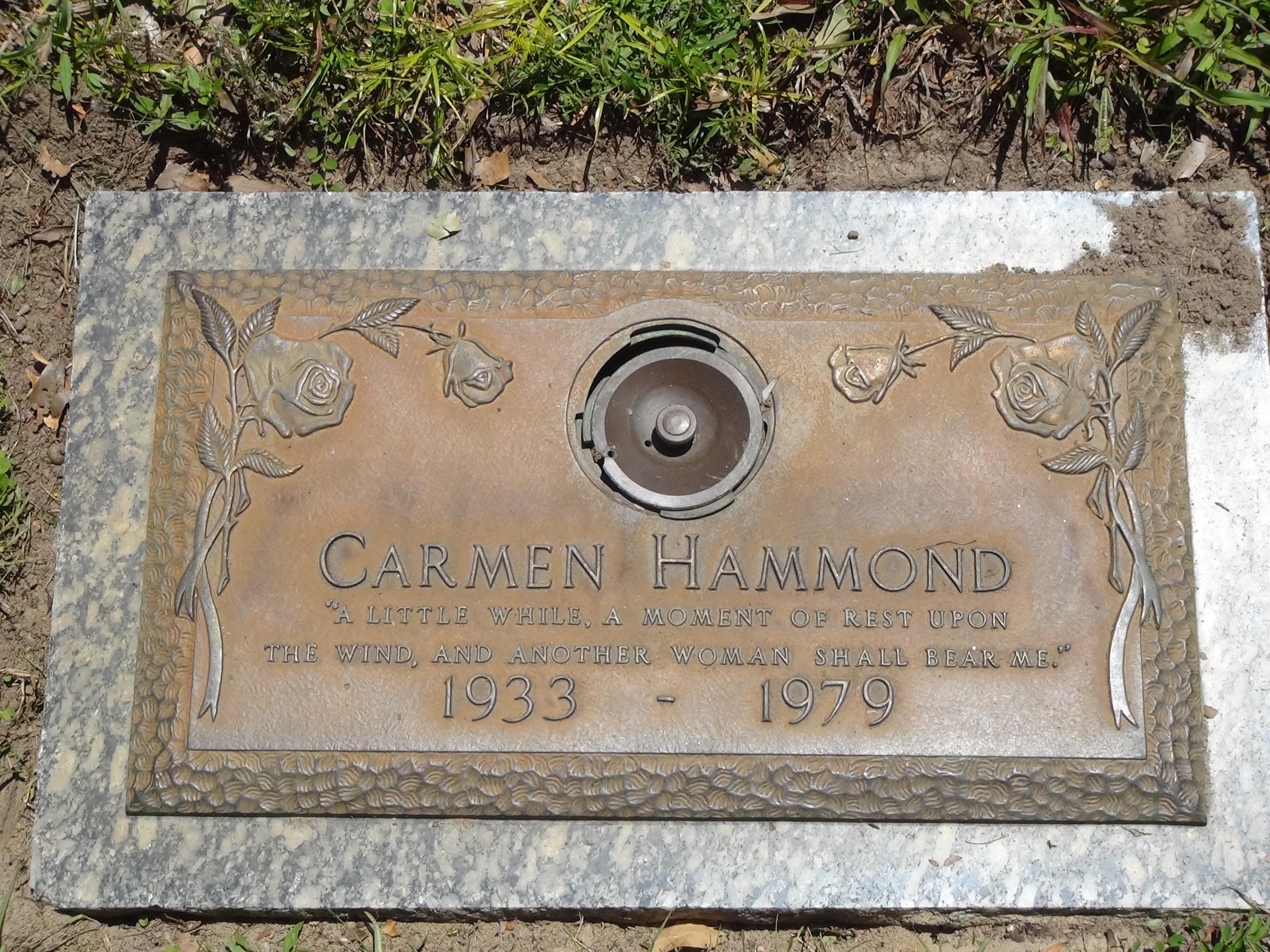 Carmen Aurora Simon Hammond (1933-1979) - Find A Grave Memorial