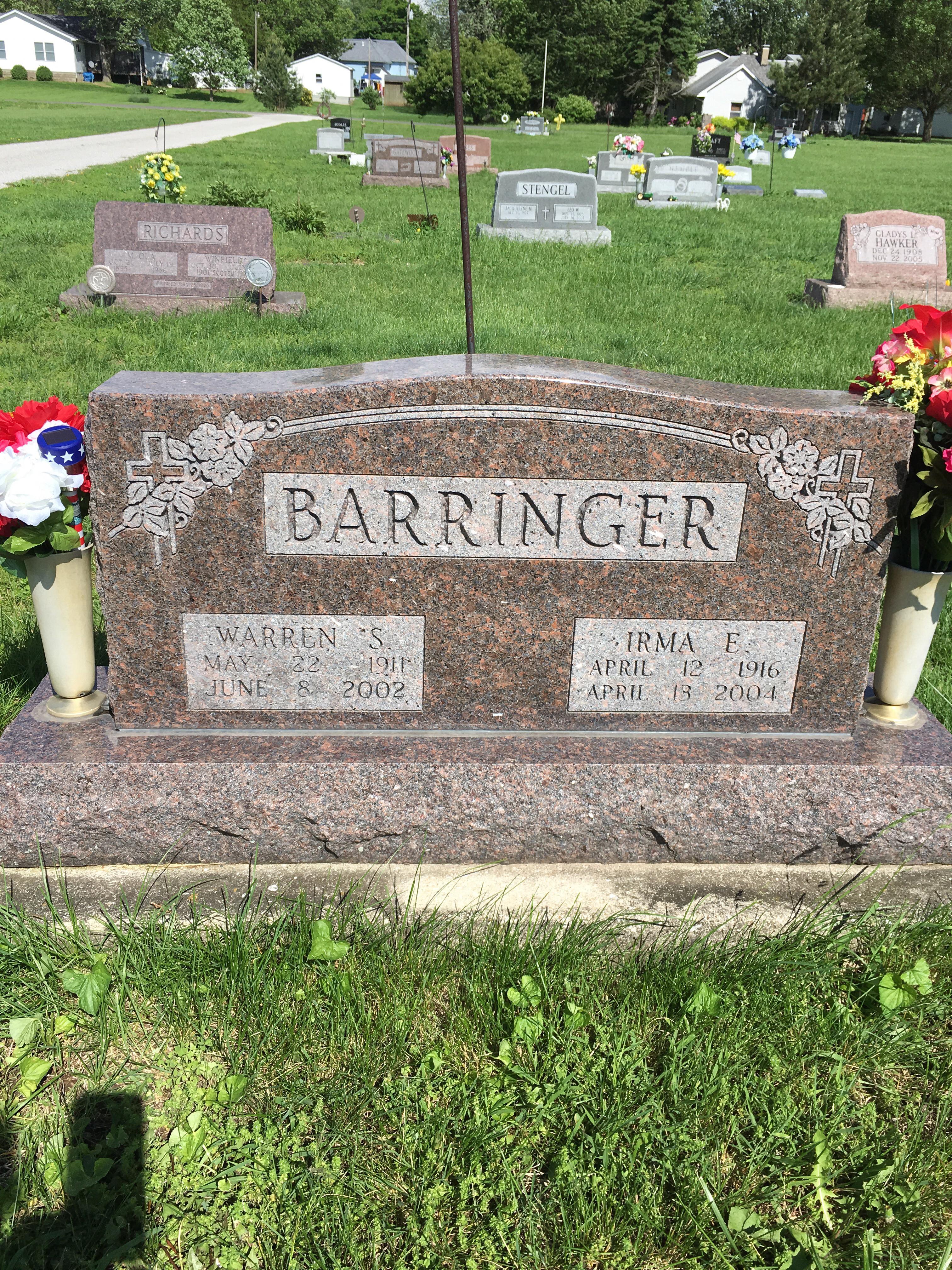 Irma E <i>Mathias</i> Barringer