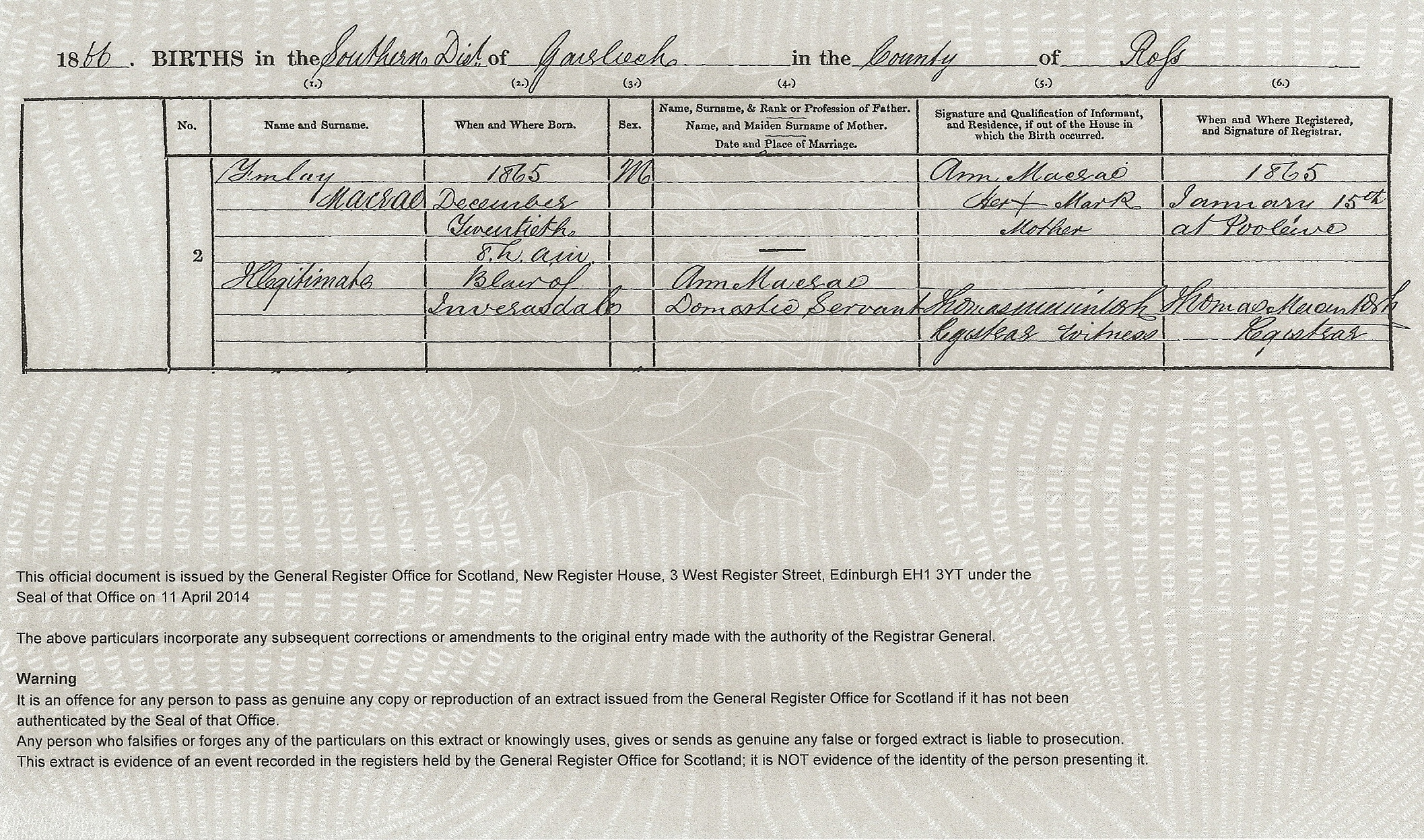 Finlay bain macrae 1865 unknown find a grave memorial bwcopy scotland birth certificate of finlay macrae reg no 6494123 ce when where born december 20 1865 father not stated mother ann macrae aiddatafo Image collections