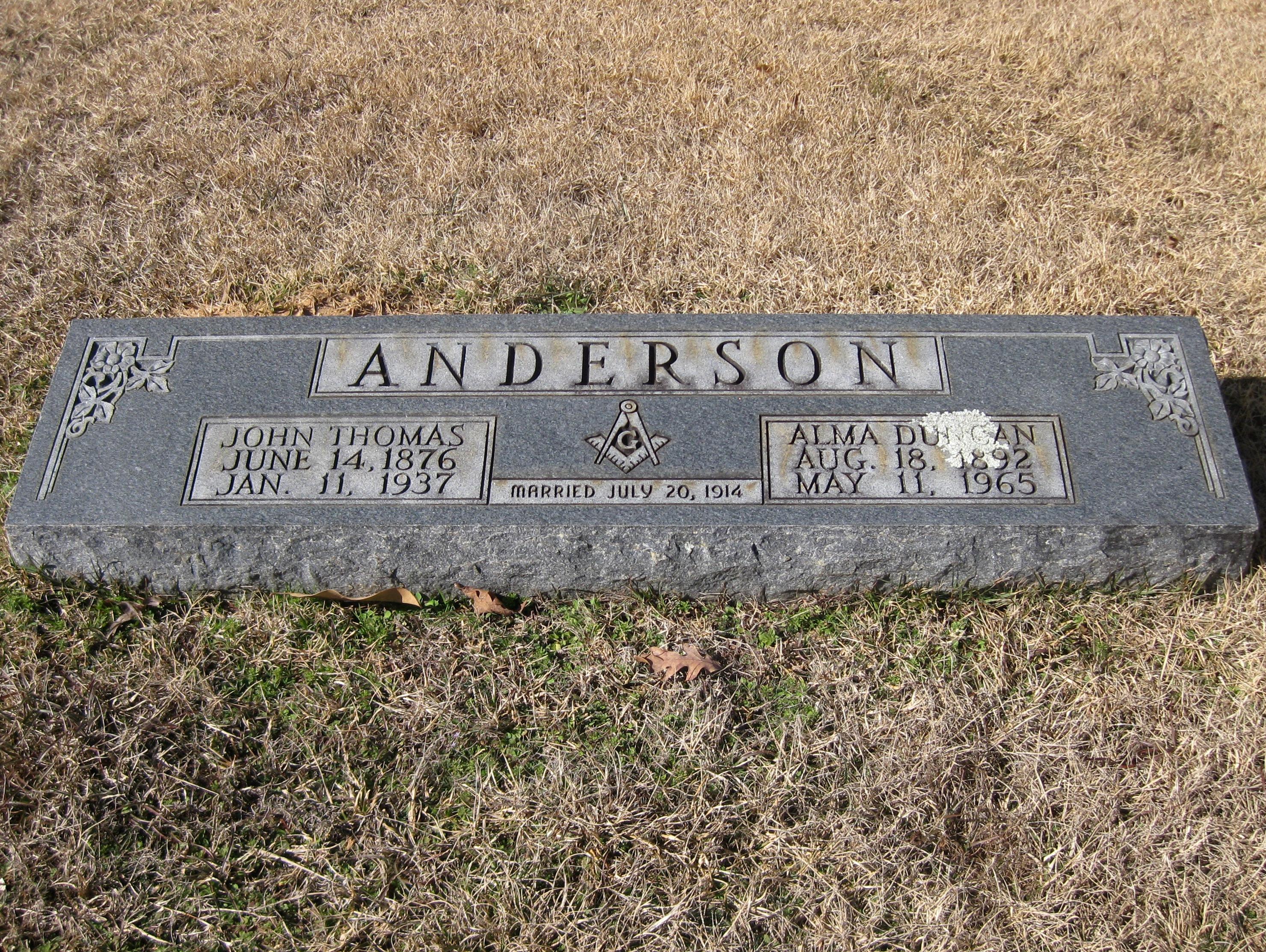 Alma <i>Duncan</i> Anderson
