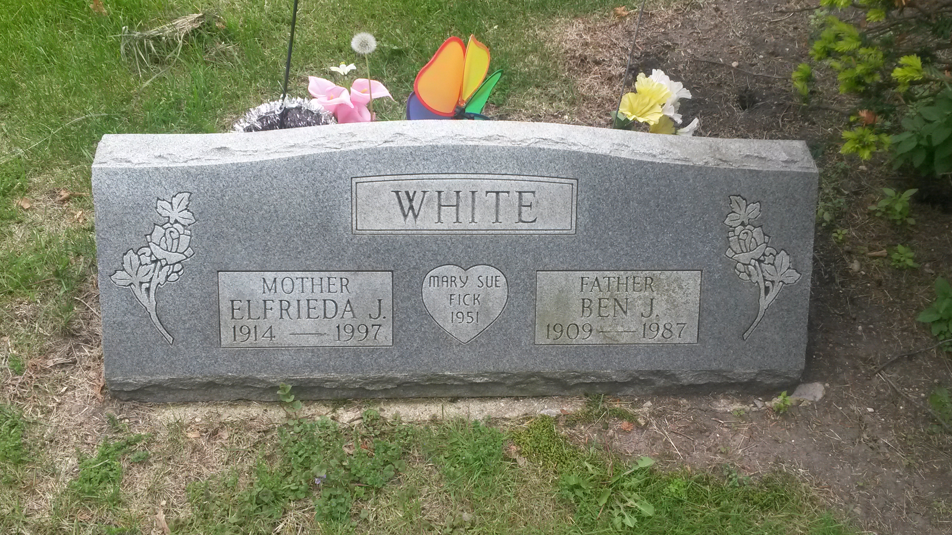 Elfrieda J Fick White 1914 1997 Find A Grave Memorial