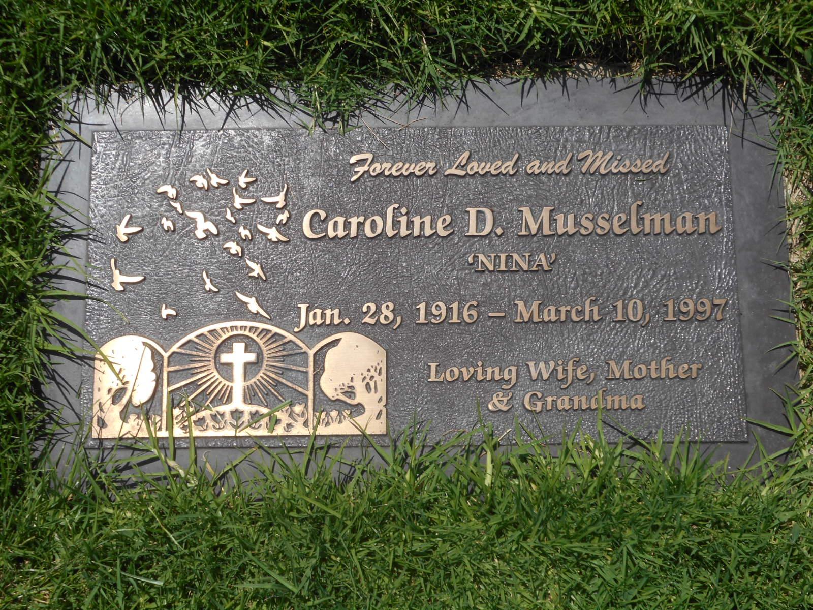 Caroline E <i>Durante</i> Musselman