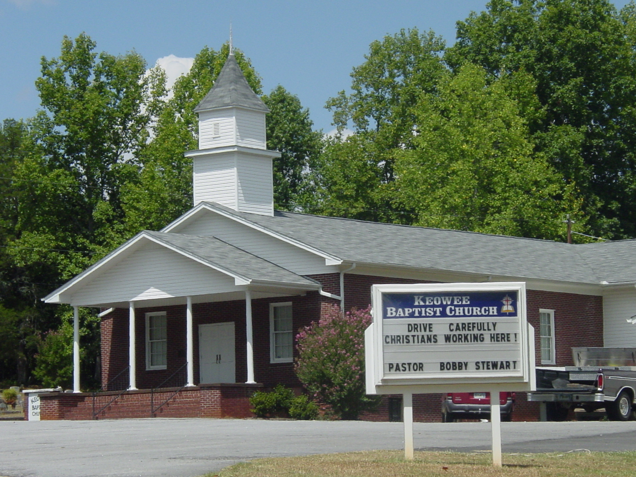 Keowee Baptist Church Cemetery in Six Mile, South Carolina