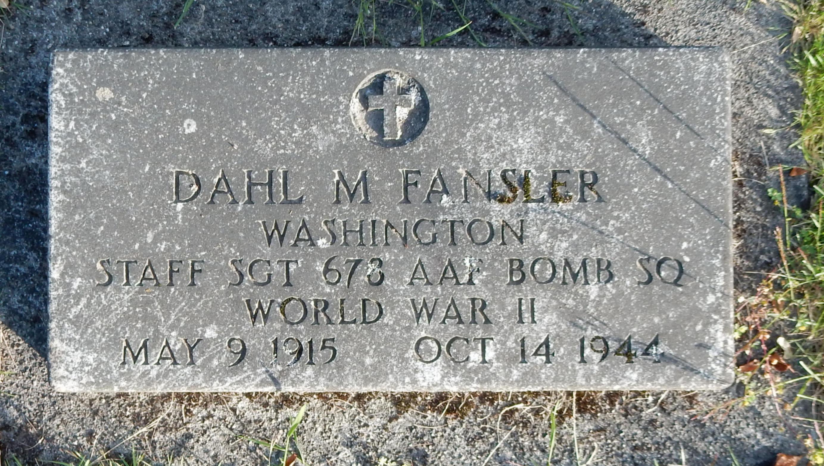 SSGT Dahl M Fansler
