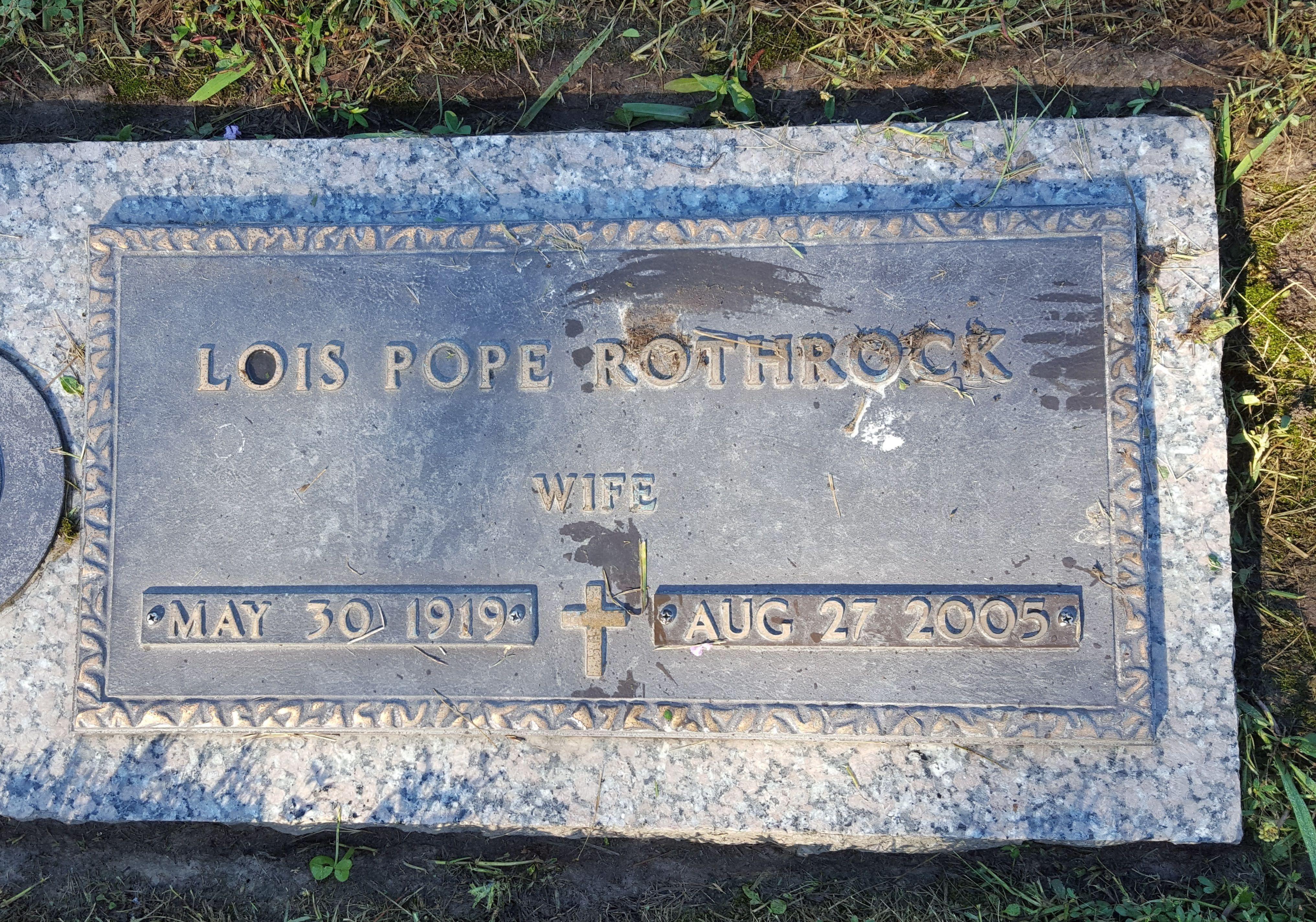 Lois Lorraine <i>Pope</i> Rothrock