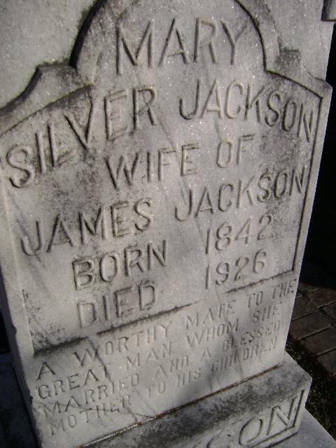 Mary <i>Silver</i> Jackson