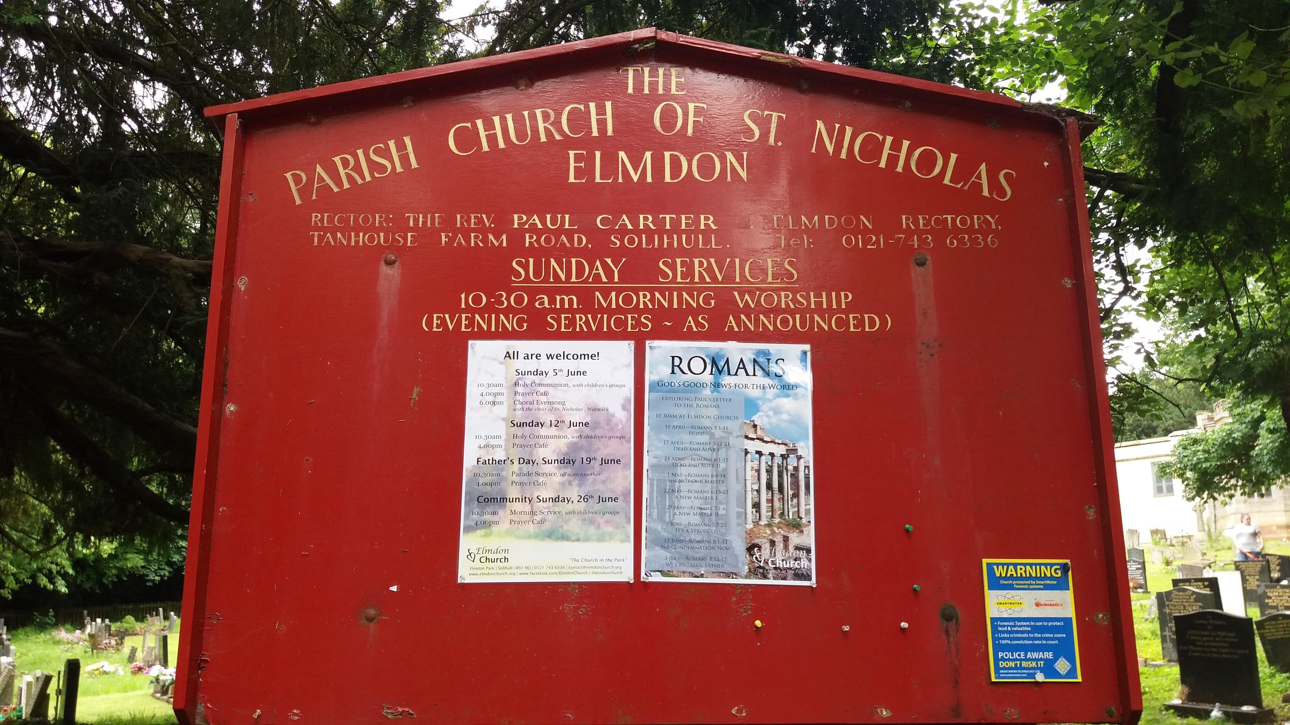 St  Nicholas Churchyard in Elmdon, West Midlands - Find A
