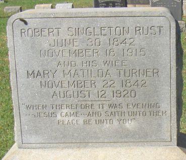 Mary Matilda <i>Turner</i> Rust