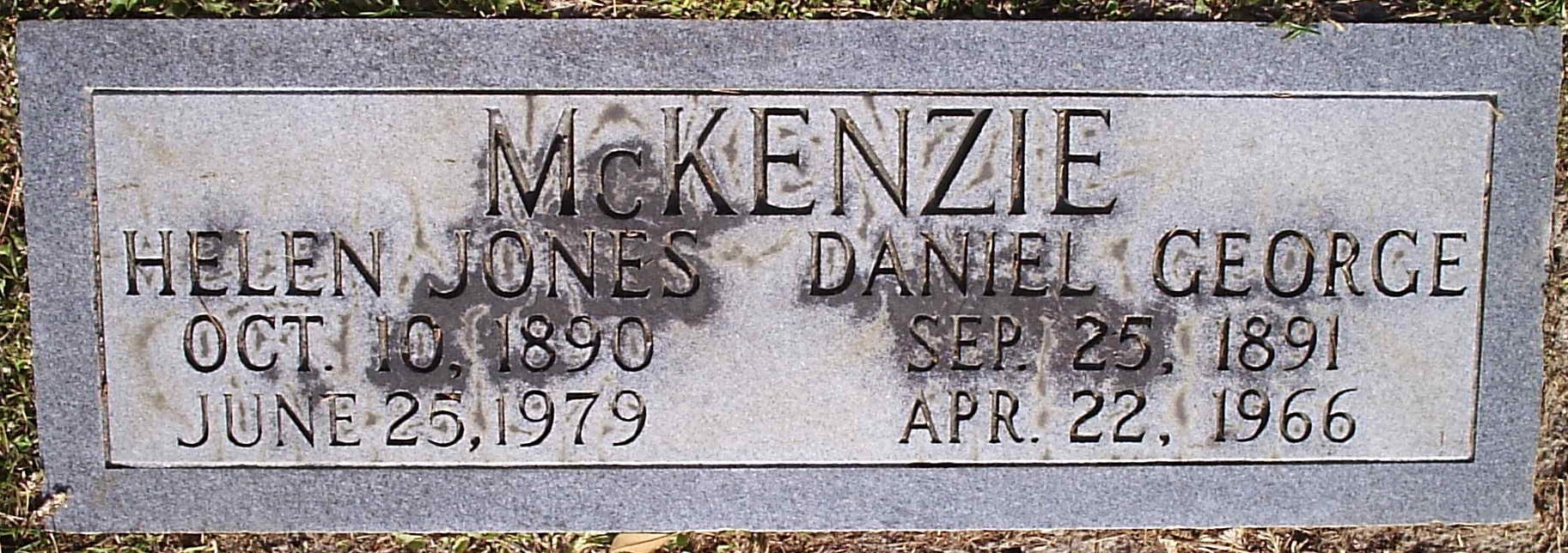 Helen <i>Jones</i> McKenzie