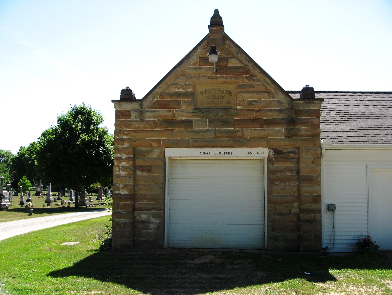 1886 receiving vault at the milan cemetery milan ohio
