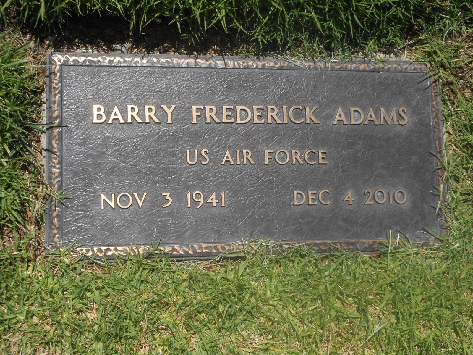 Barry Frederick Adams
