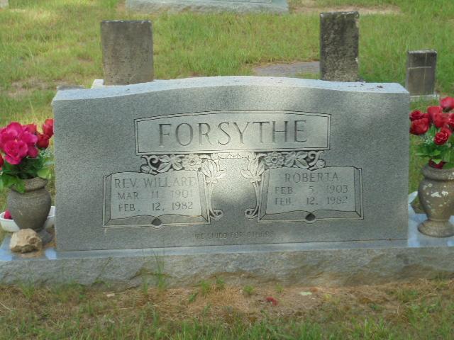 Rev Willard E. Forsythe