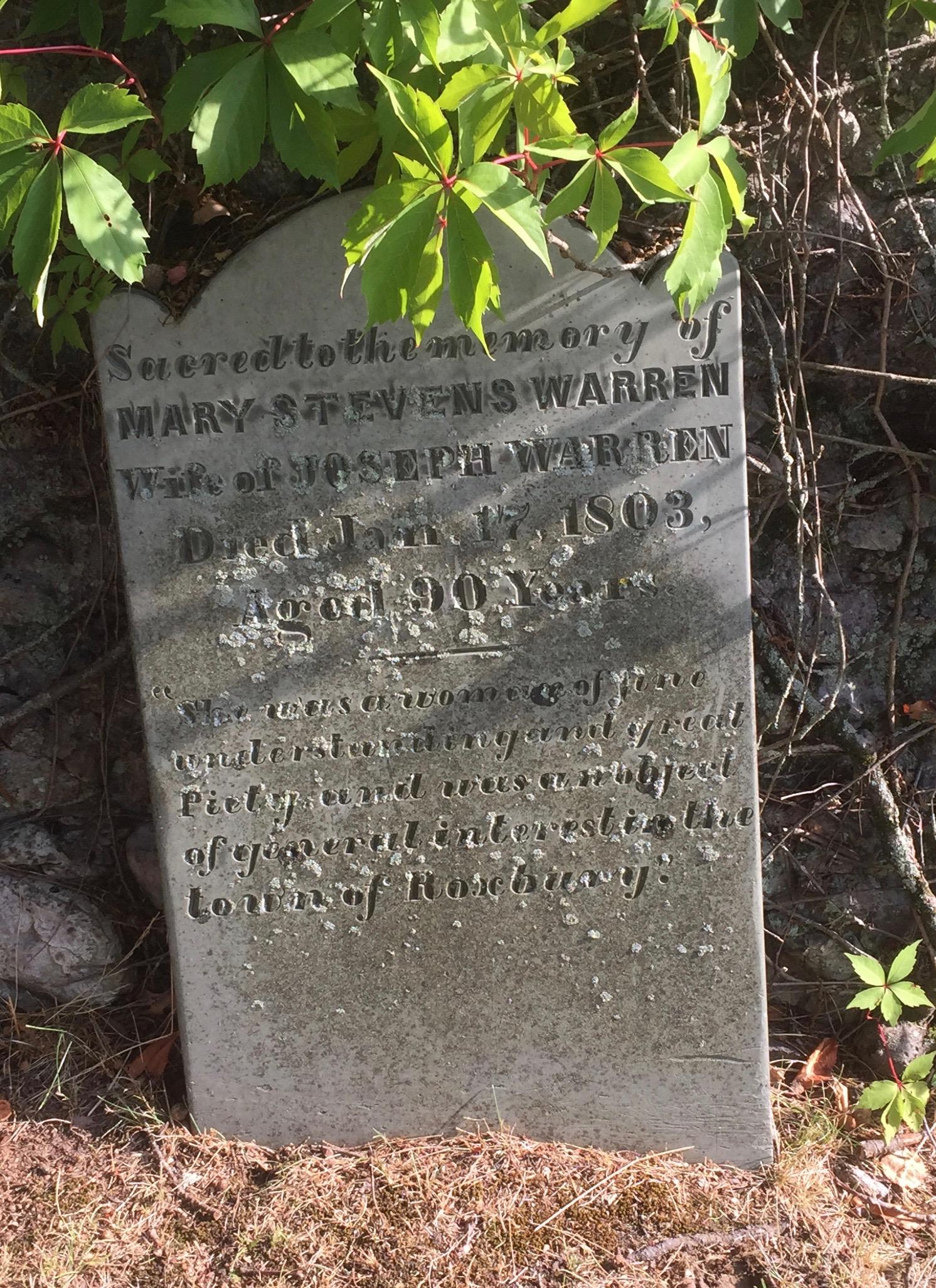 Mary Stevens Warren (1713-1803) - Find A Grave Memorial