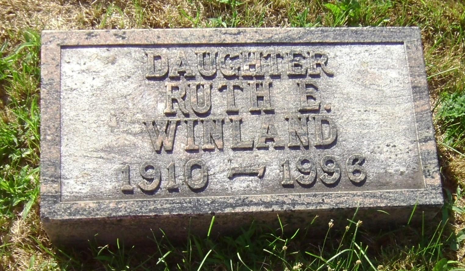 Ruth E. Winland