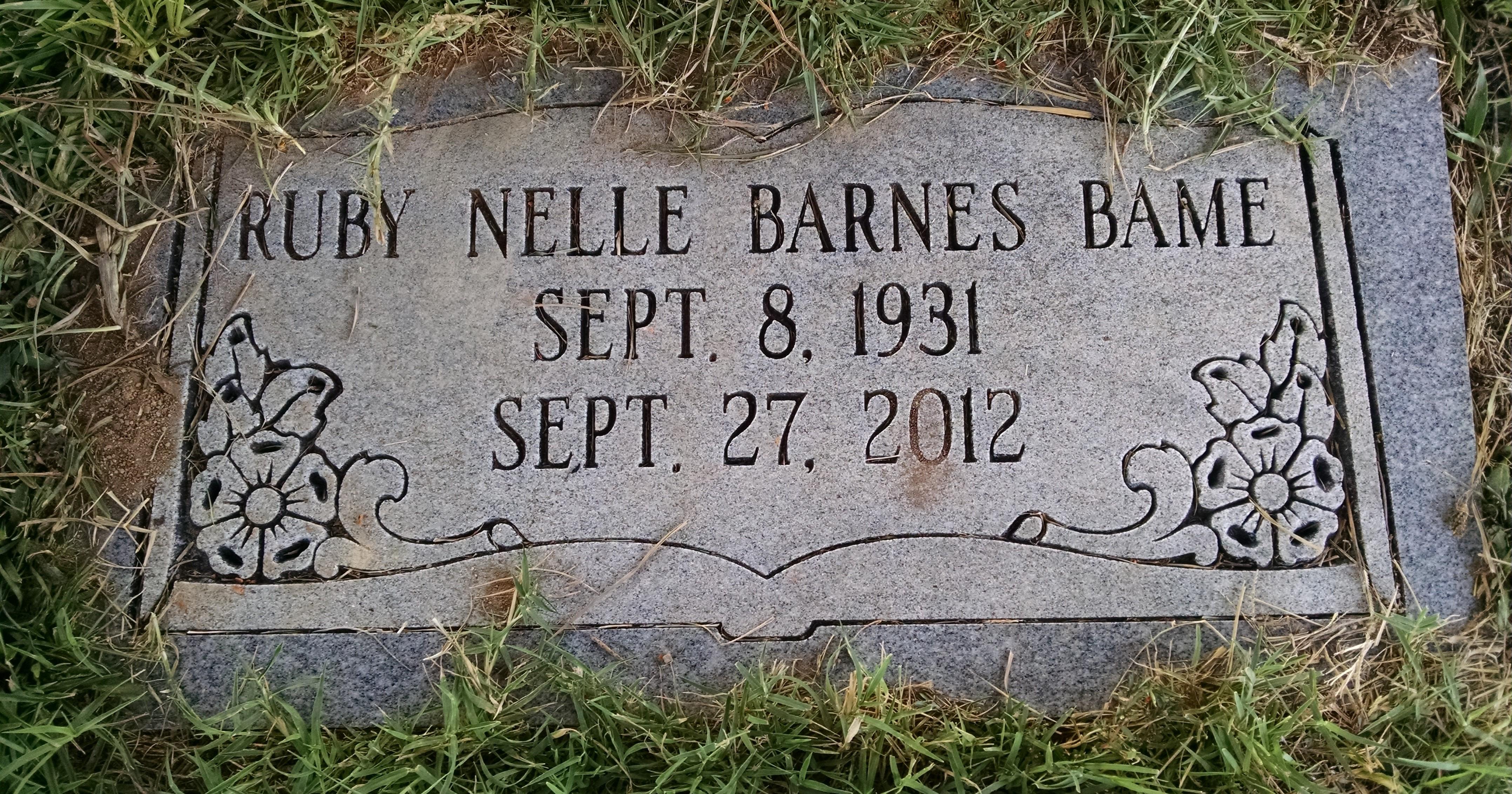 Ruby Nelle <i>Barnes</i> Bame