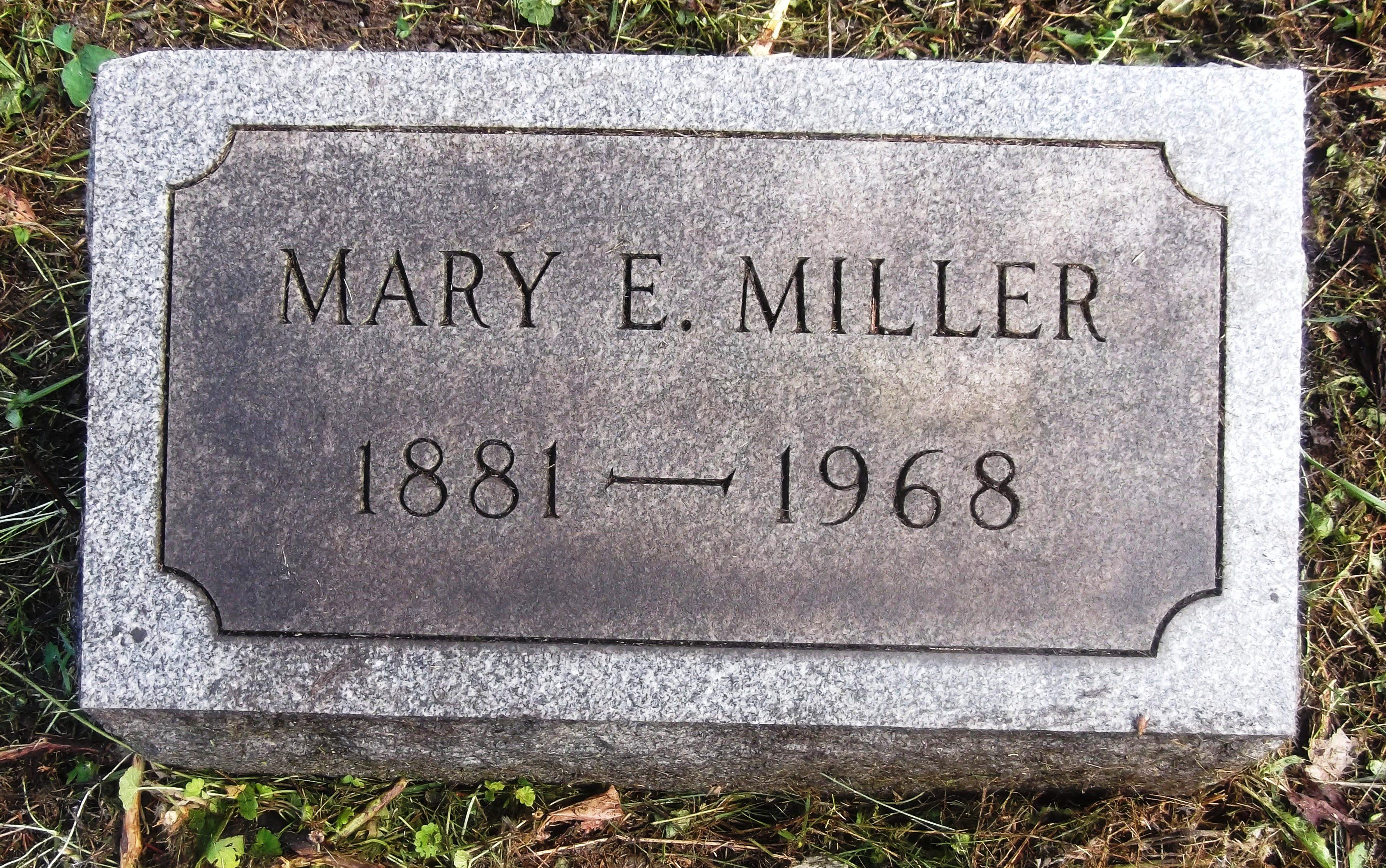 Mary E Miller