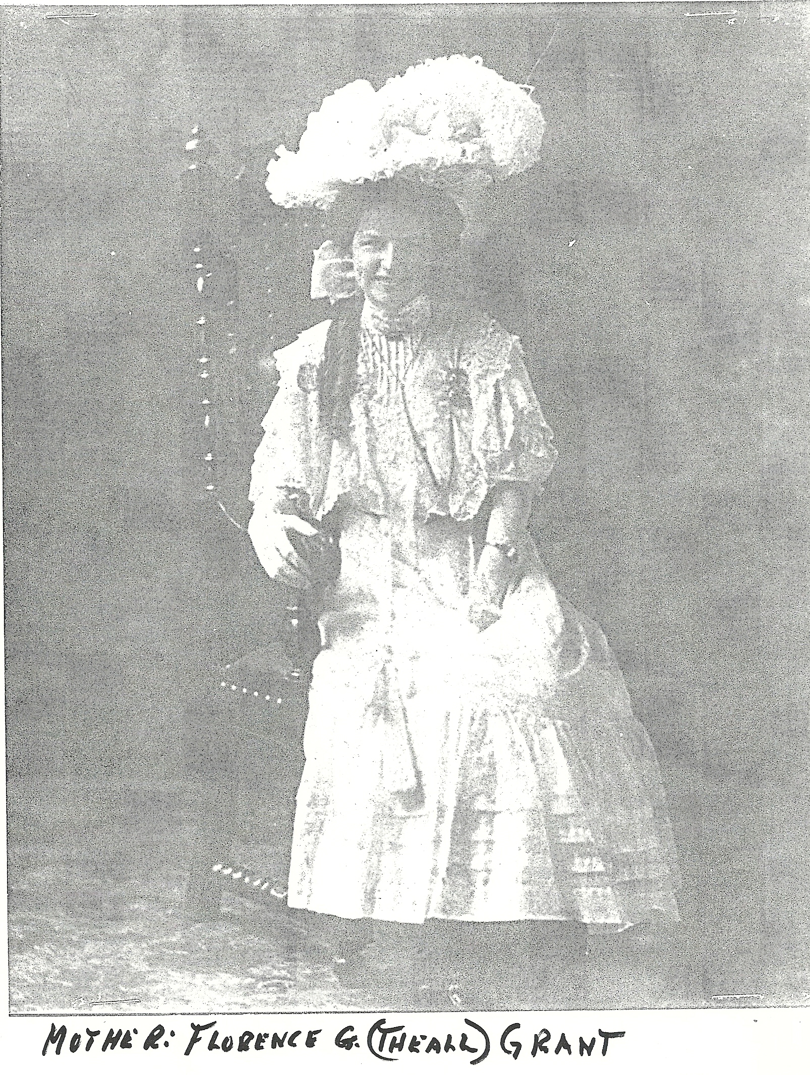 Mrs Florence Gertrude Aunt Floss <i>Theall</i> Grant