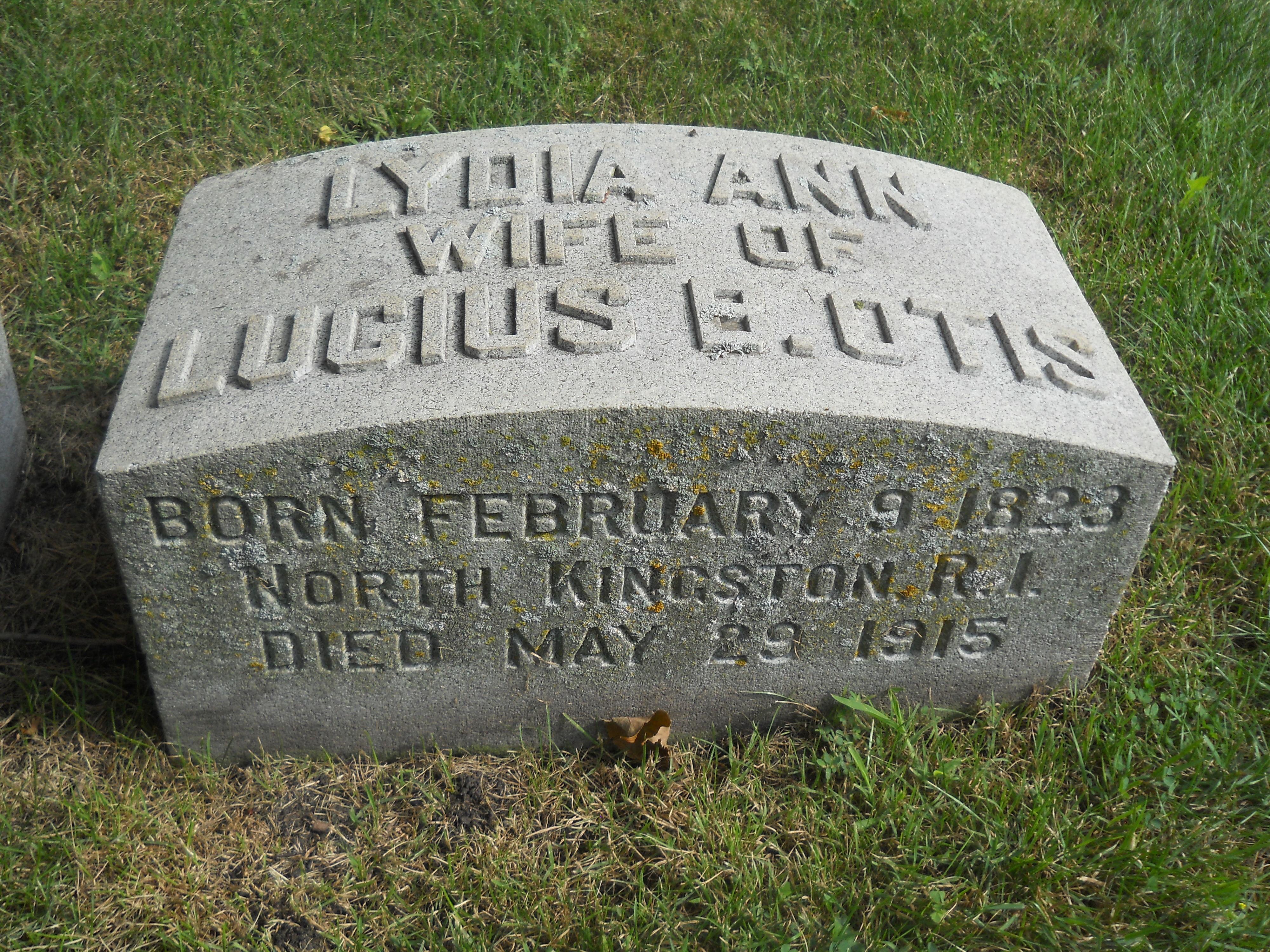 Lydia Ann <i>Arnold</i> Otis