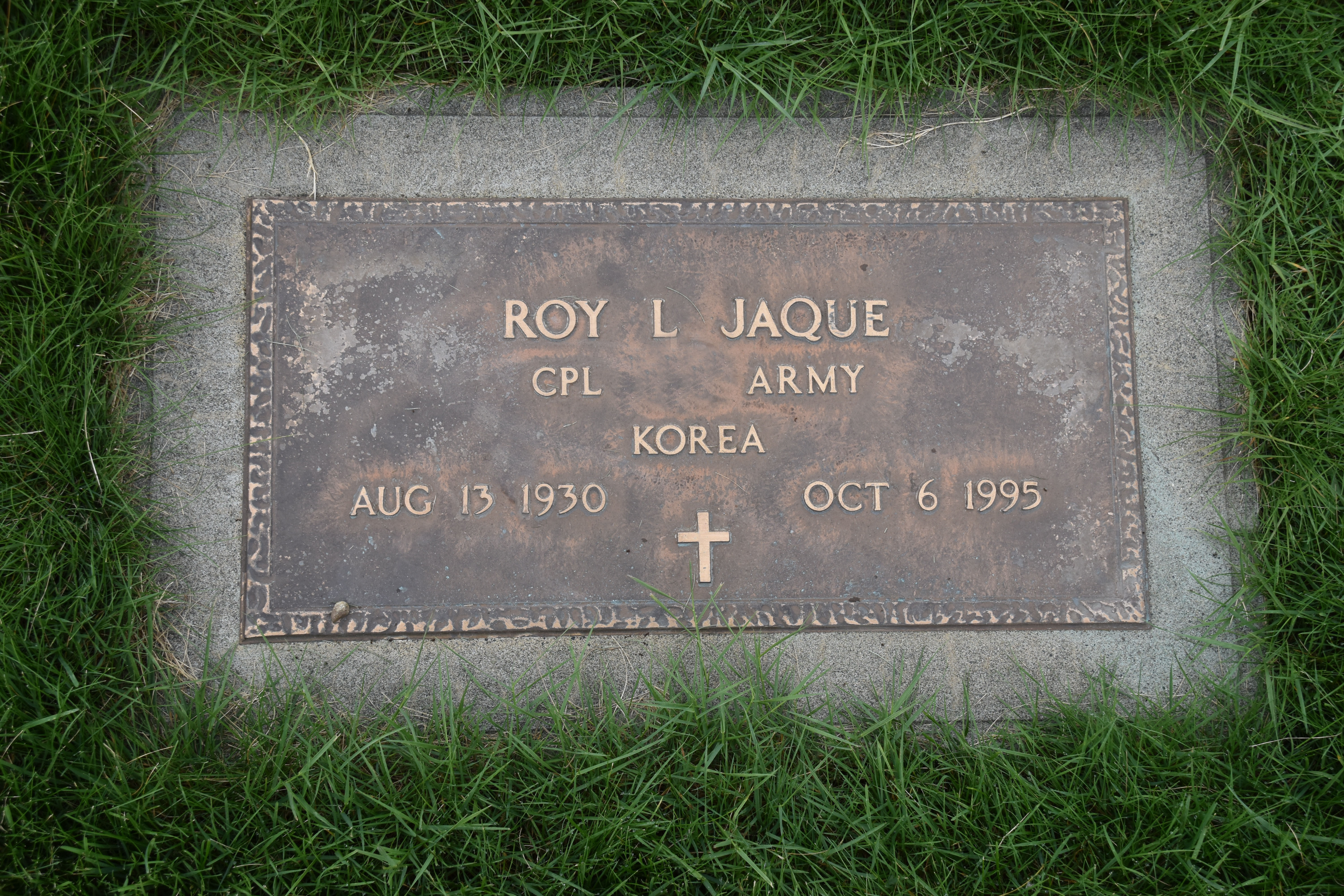 Corp Roy L Jaque