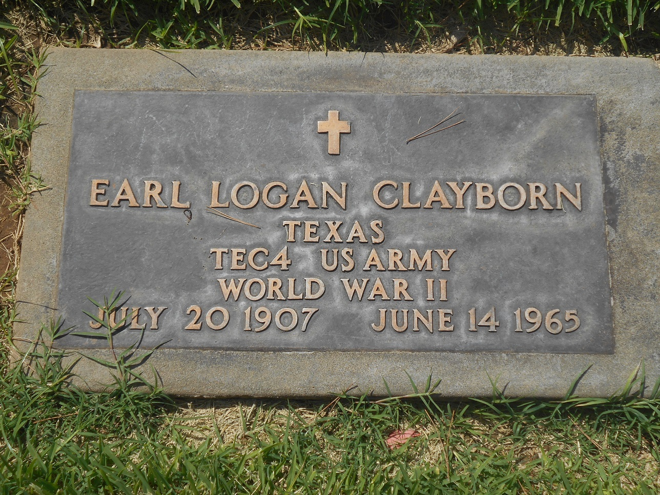 Earl logan clayborn 1907 1965 find a grave memorial