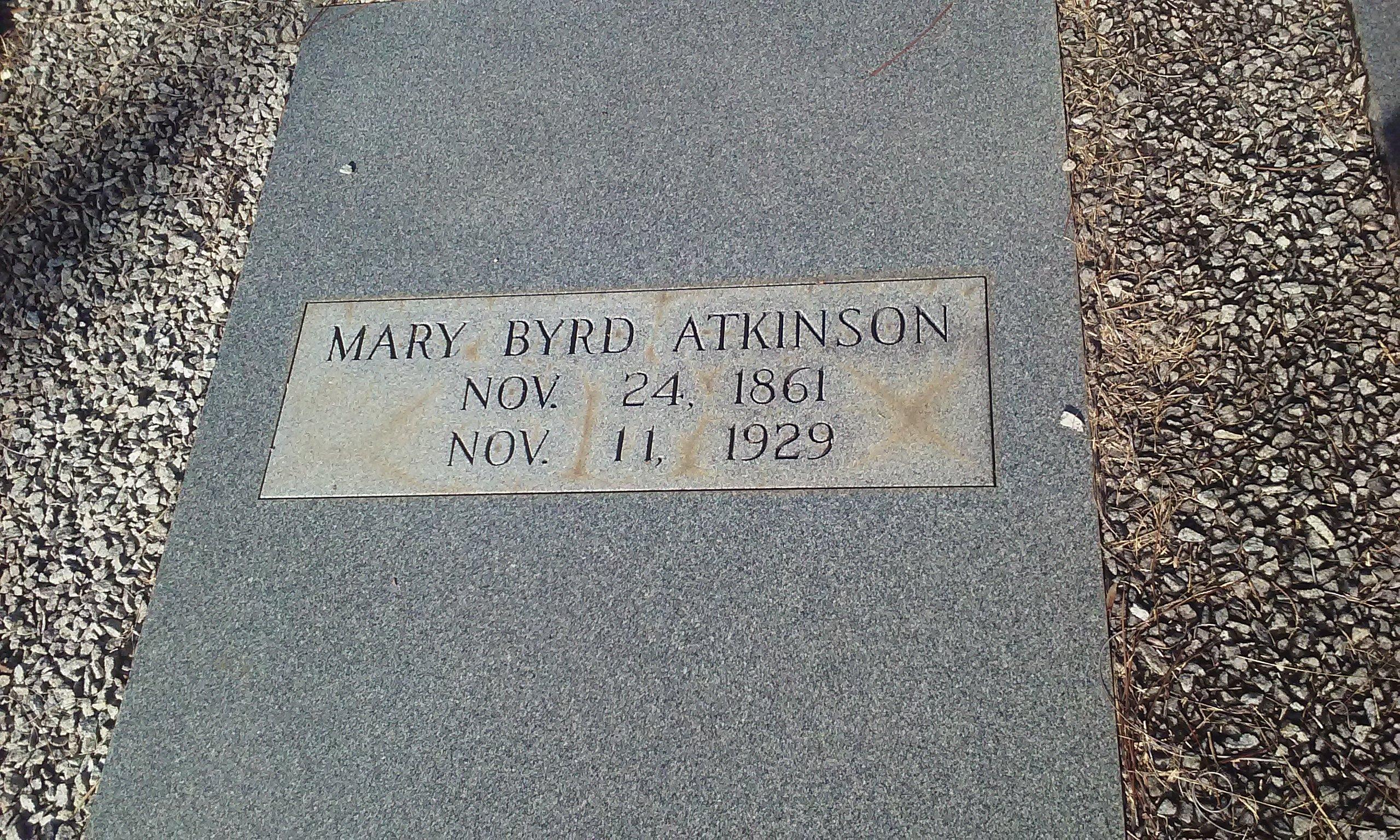 Mary <i>Byrd</i> Atkinson