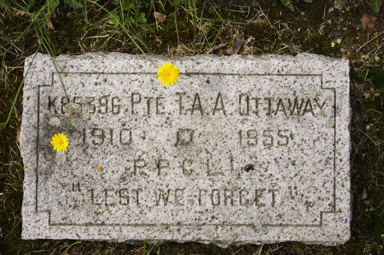 PVT Thomas Alfred Alan Ottaway