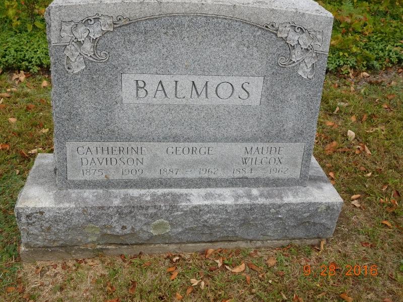 Maude E <i>Wilcox</i> Balmos