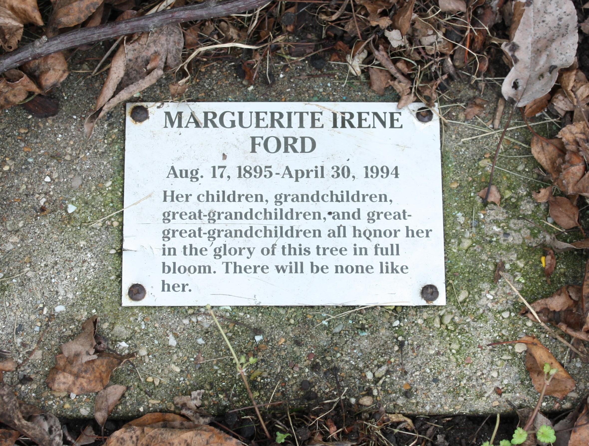 Marguerite Irene Ford