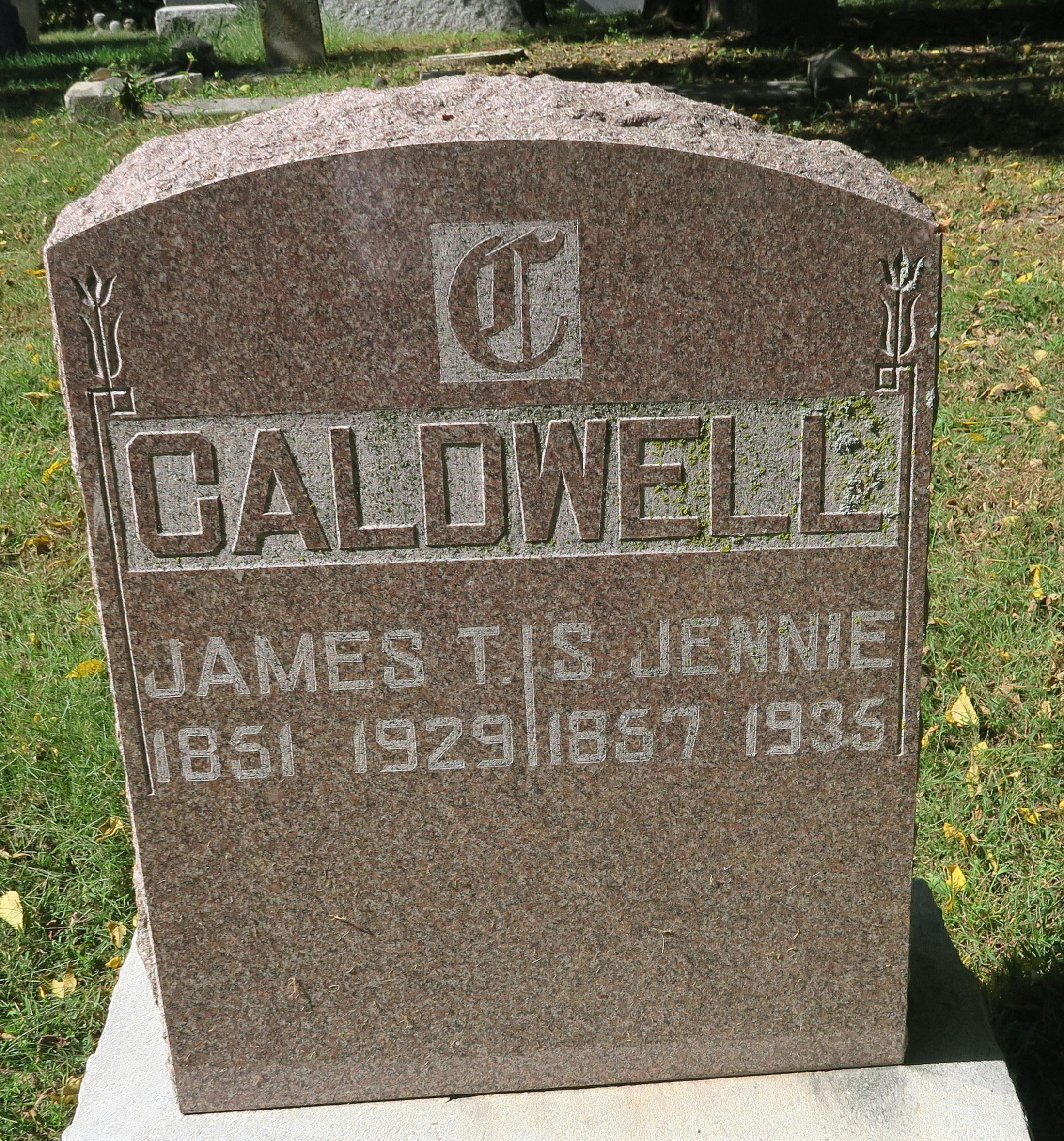 Sarah/Jennie Jane <i>Horton</i> Caldwell
