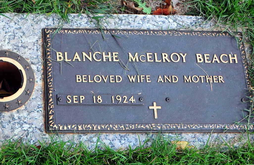 Edna Blanche <i>McElroy</i> Beach