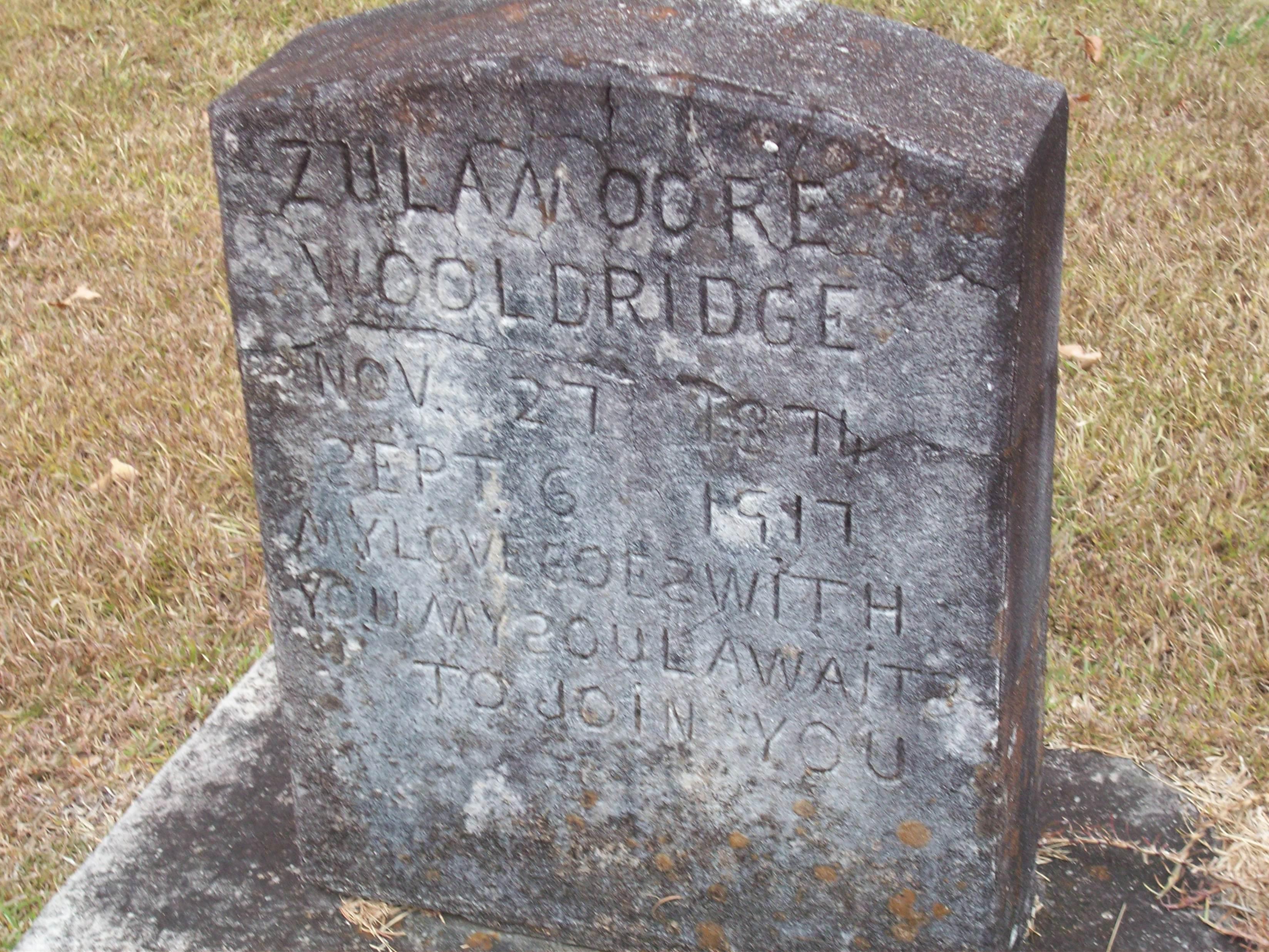 Zula <i>Moore</i> Wooldridge
