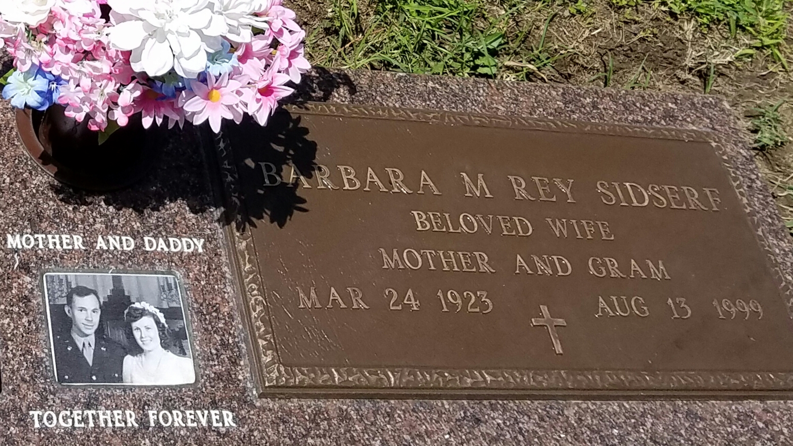 Barbara Mary Rey Sidserf (1923-1999) - Find A Grave Memorial