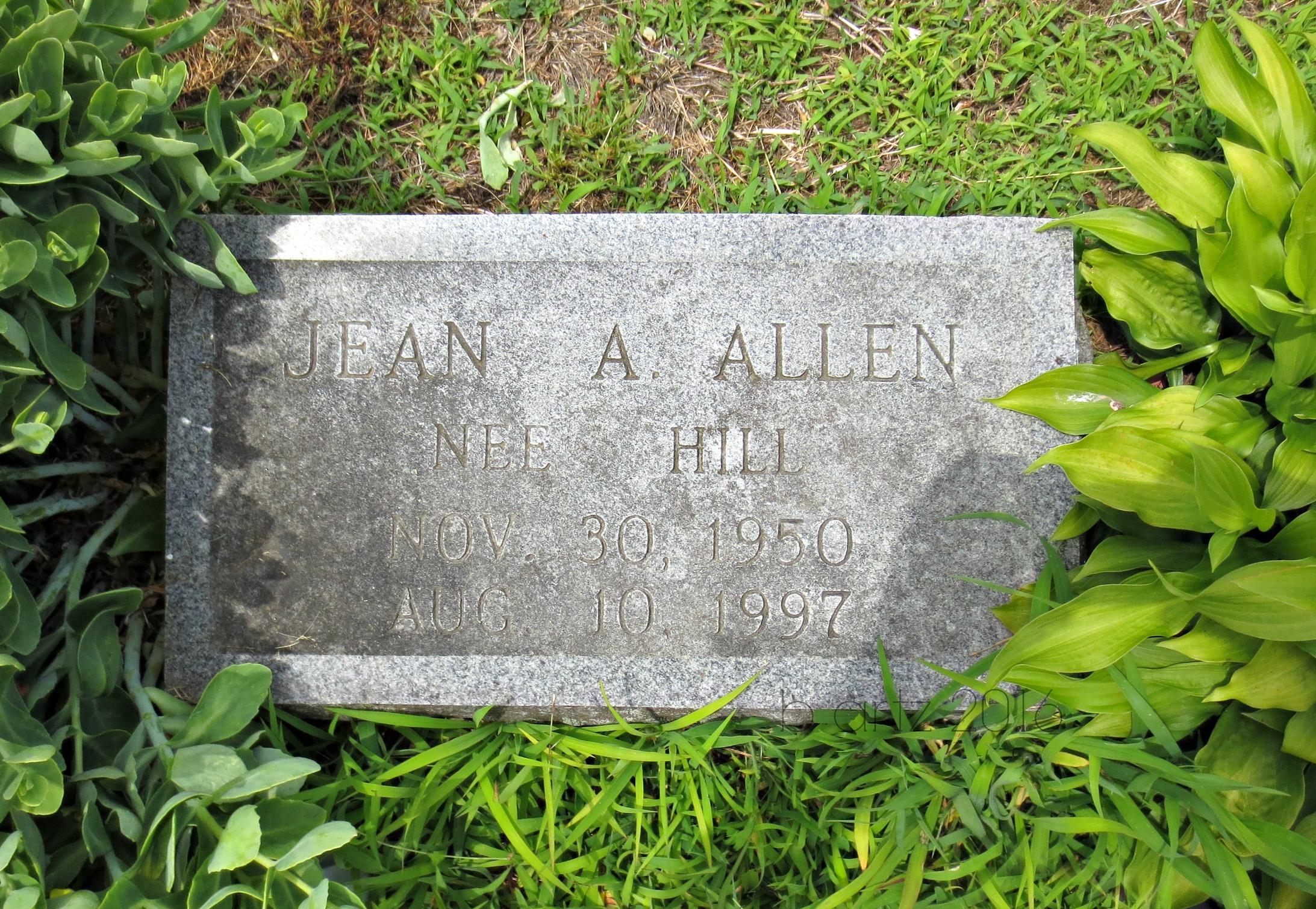 Jean A <i>Hill</i> Allen