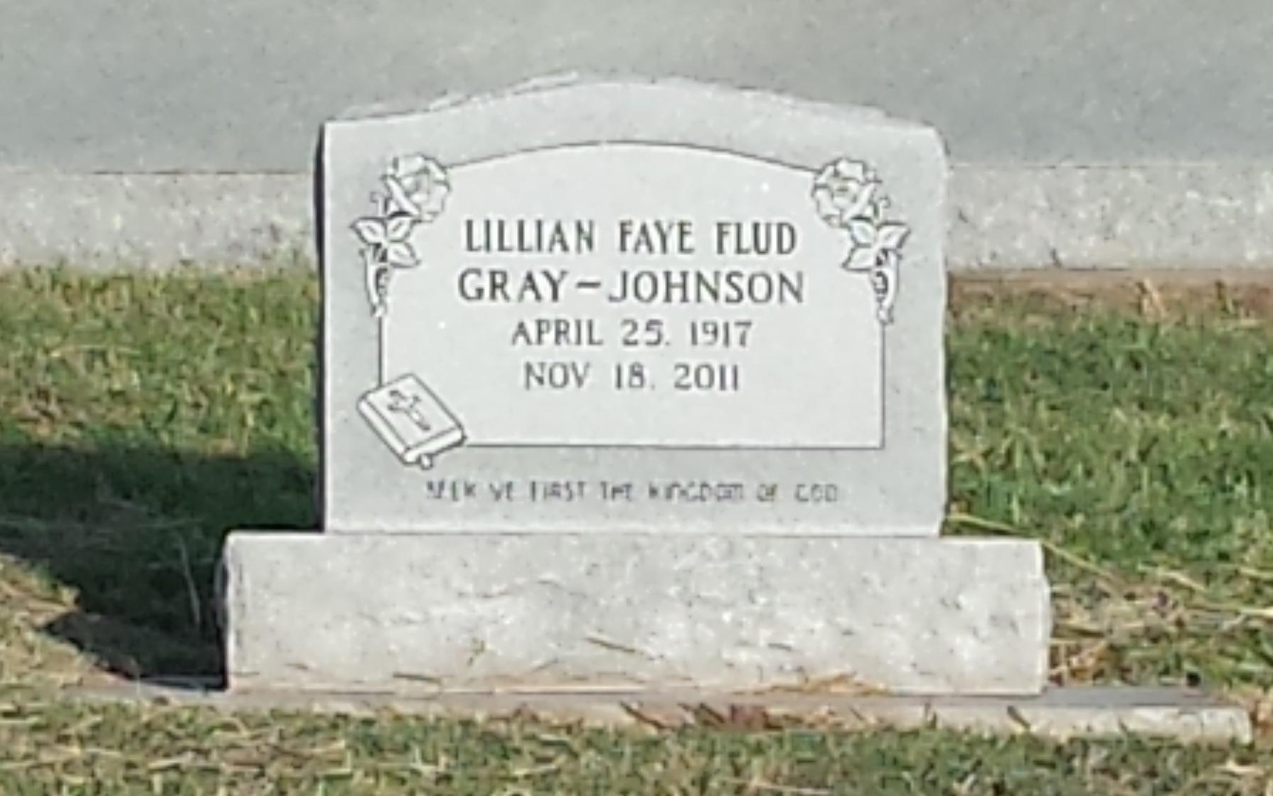 Lillian Faye Flud Johnson 1917 2011 Find A Grave Memorial