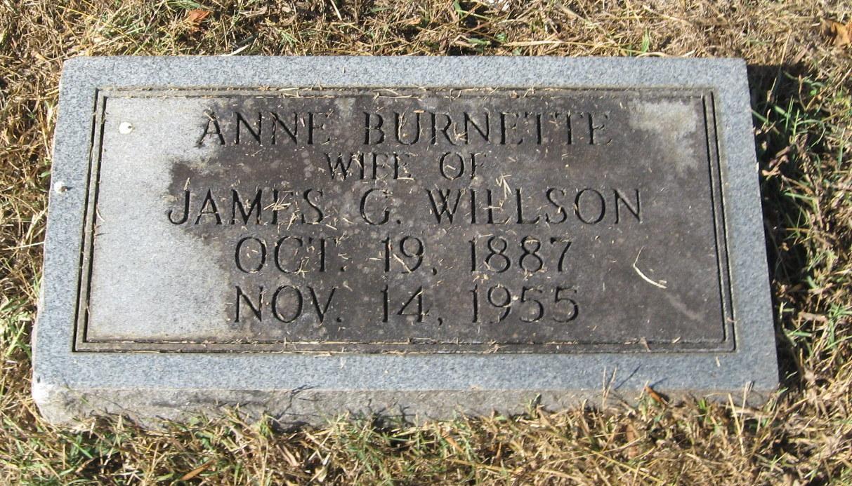 Myra Anne Anne <i>Burnette</i> Willson