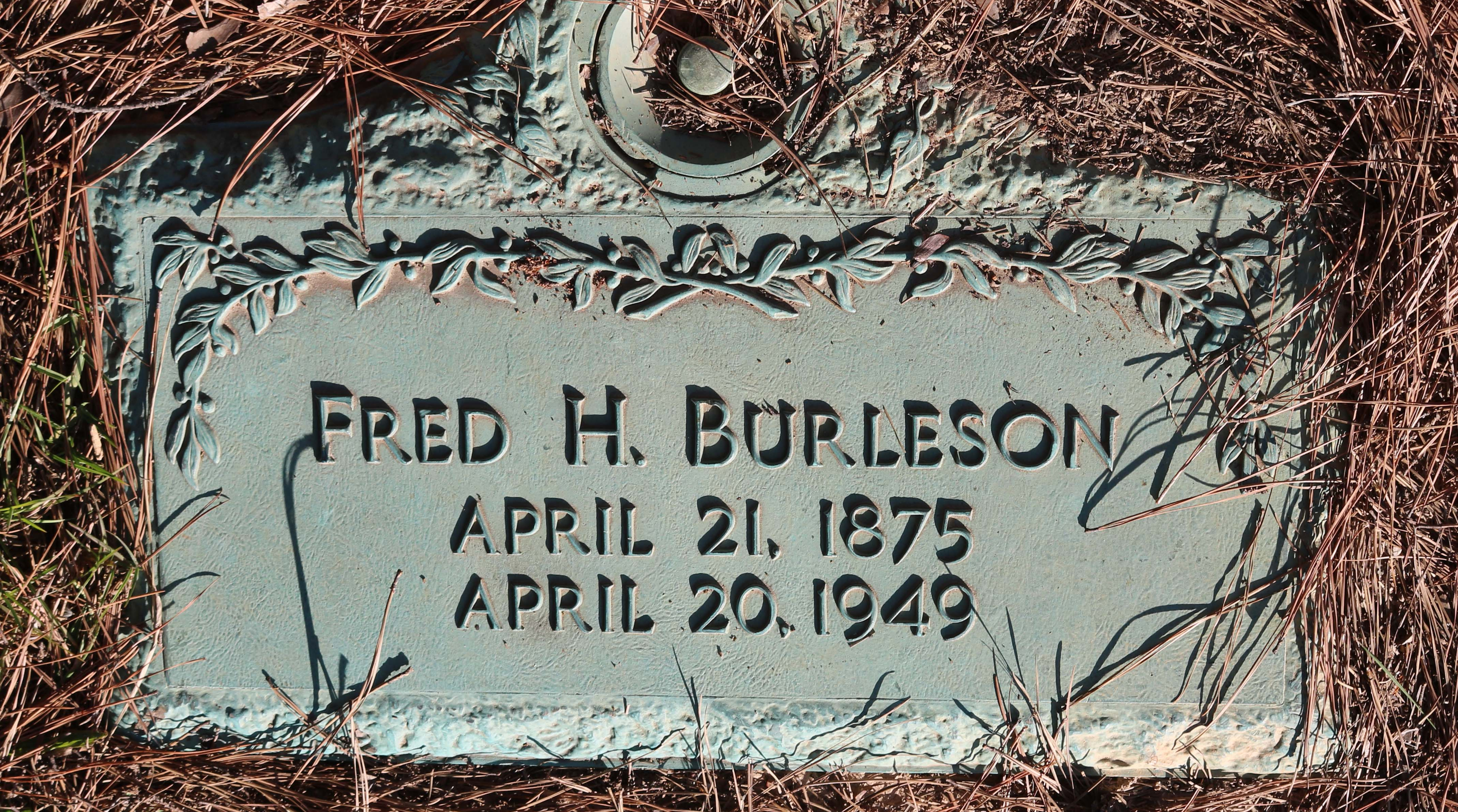 Fred Harry Burleson
