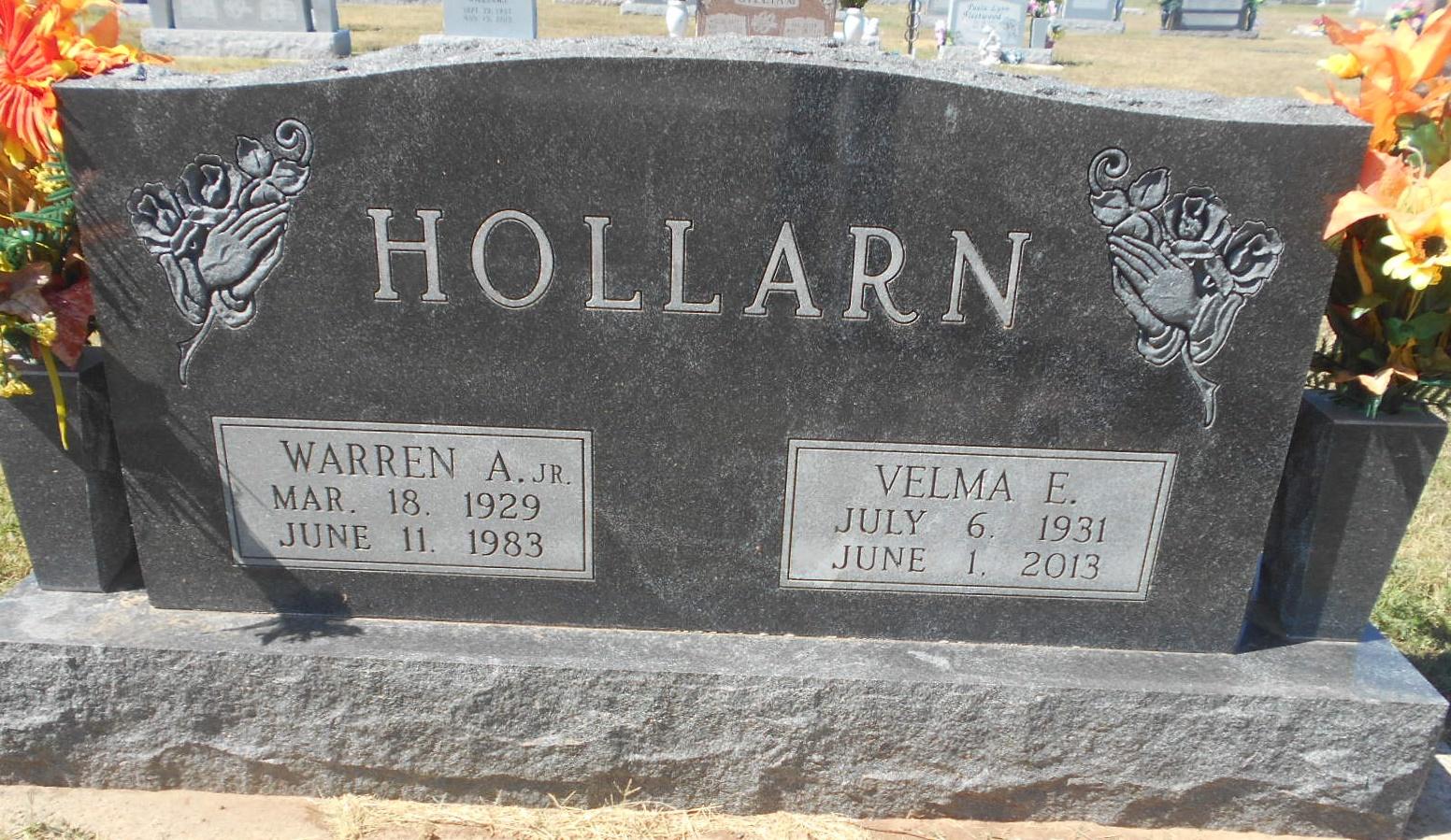 Velma Elizabeth <i>Hollman</i> Hollarn