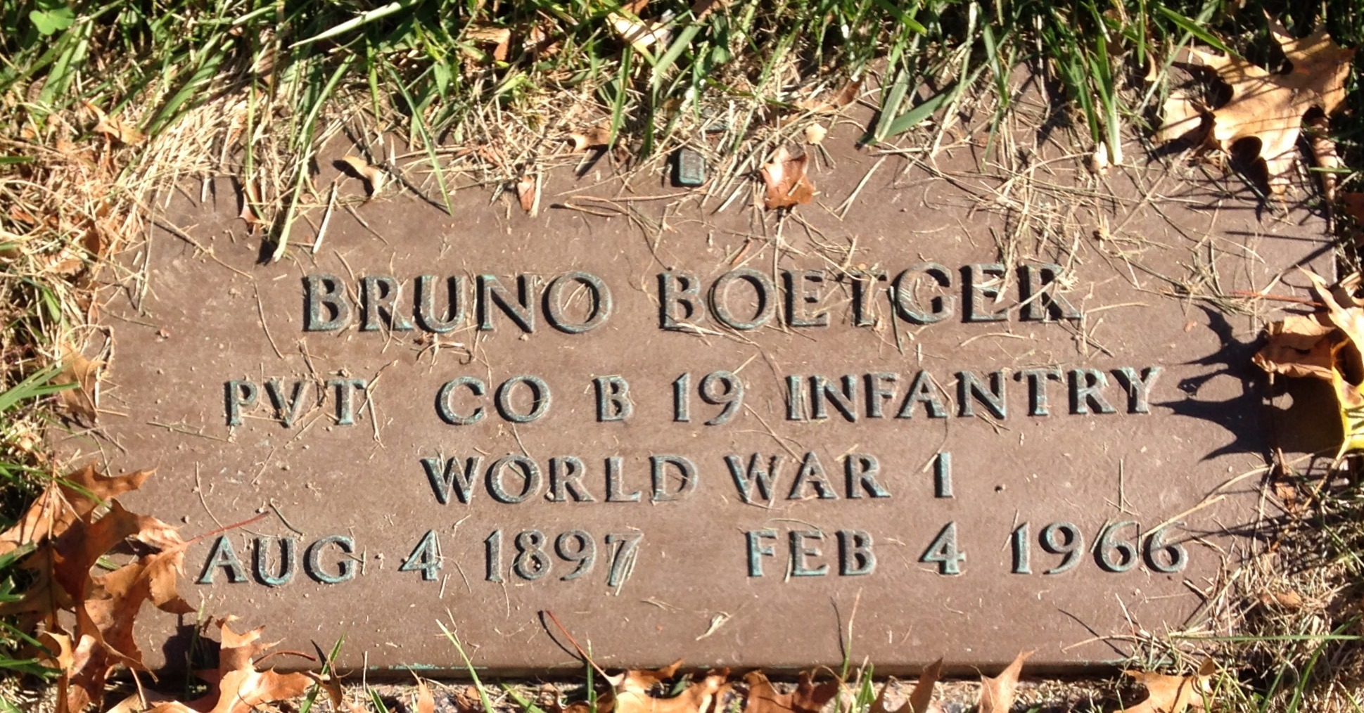 Bruno Boetger (1897-1966) - Find A Grave Memorial