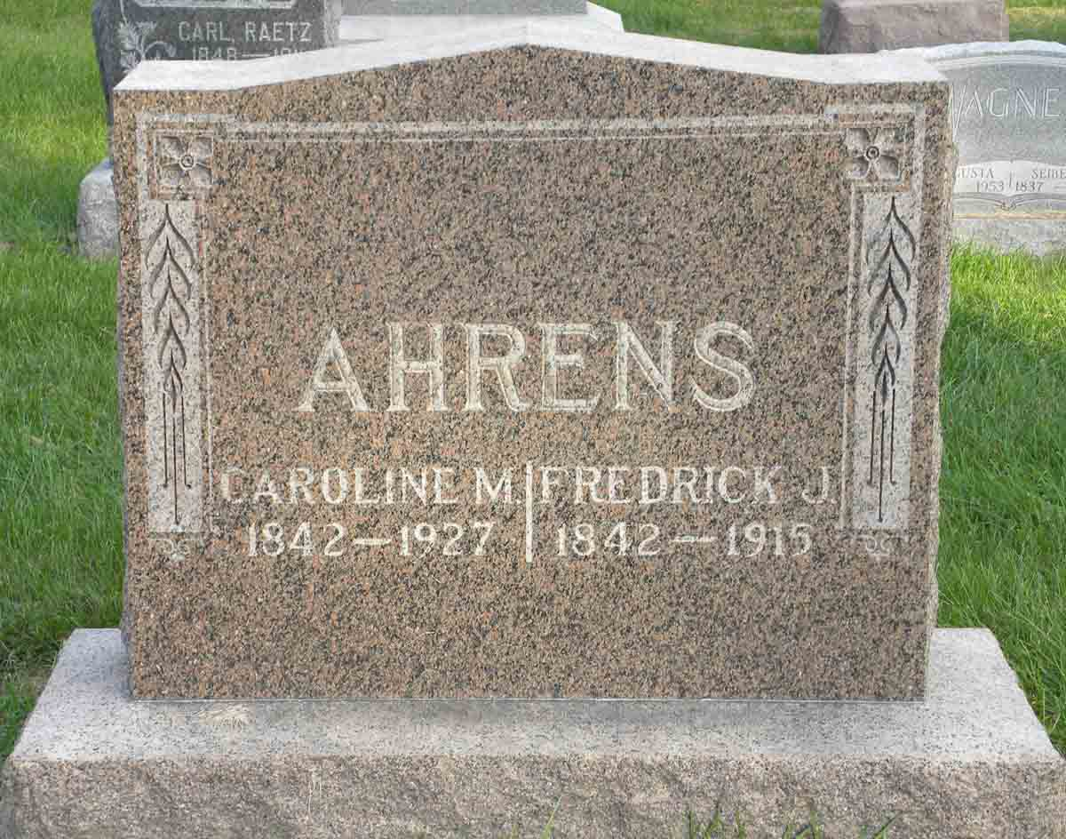 Fredrick J Ahrens
