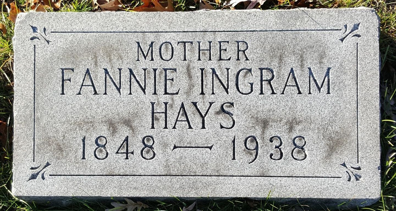 Frances Fannie <i>Ingram</i> Hays