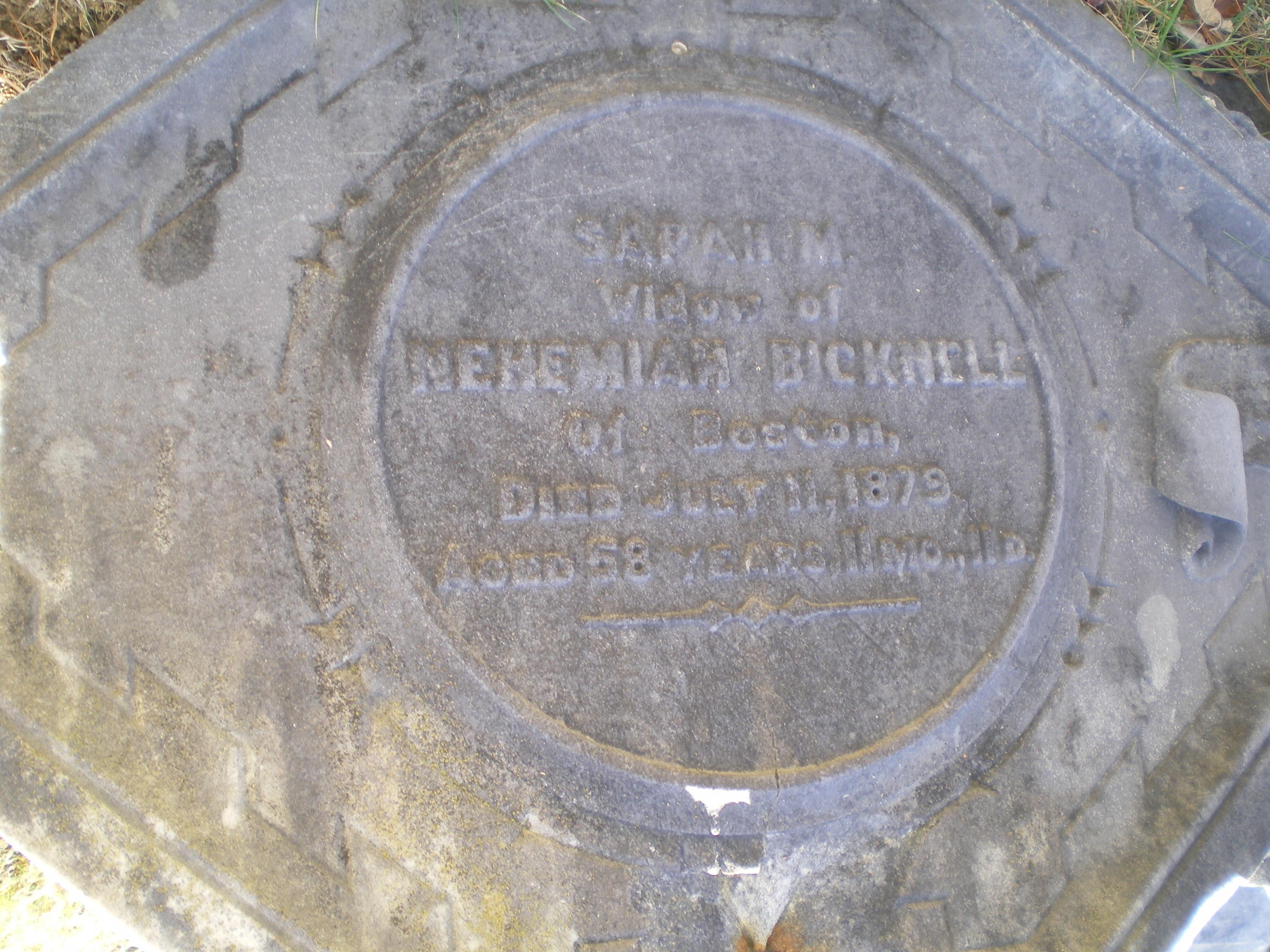 Sarah M. <i>Millet</i> Bicknell