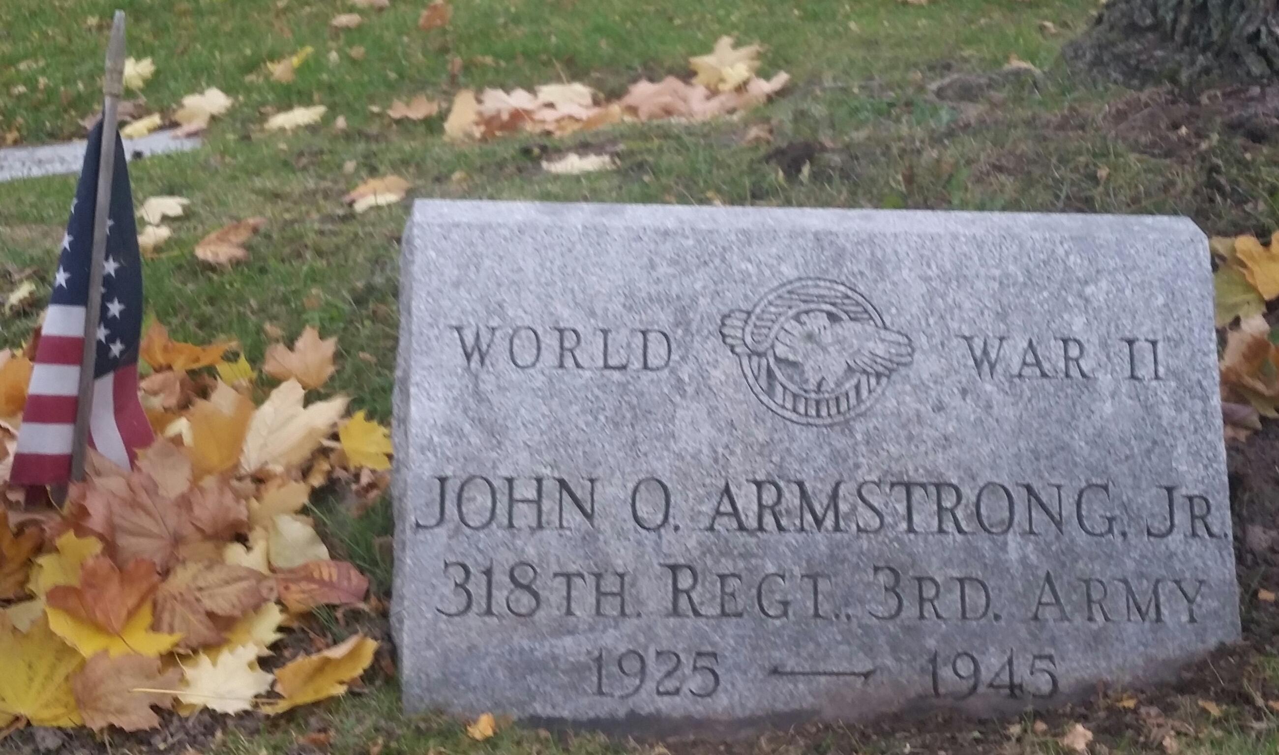 Pvt John O Armstrong, Jr
