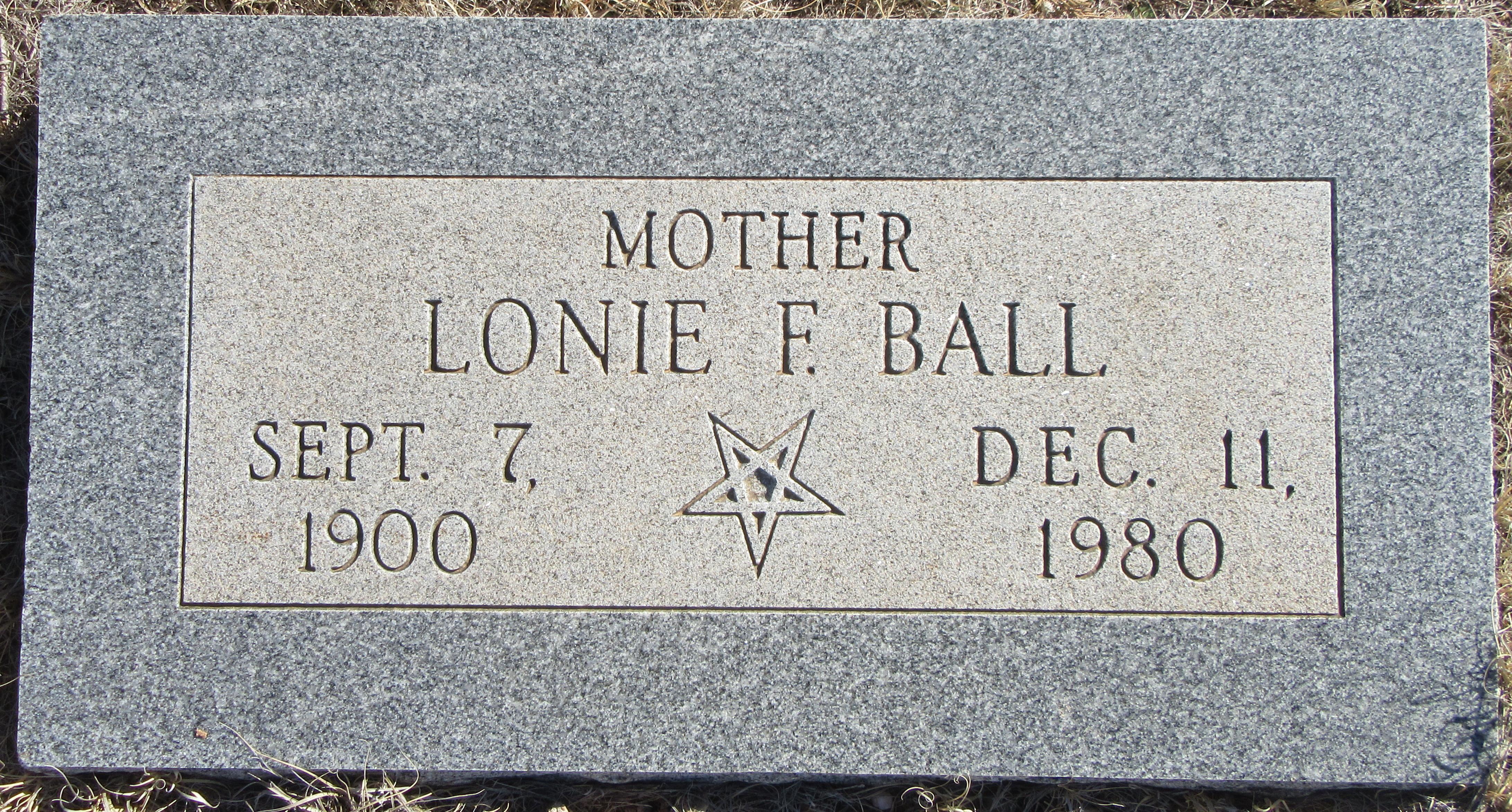 Lonnie Frances <i>Hale</i> Ball