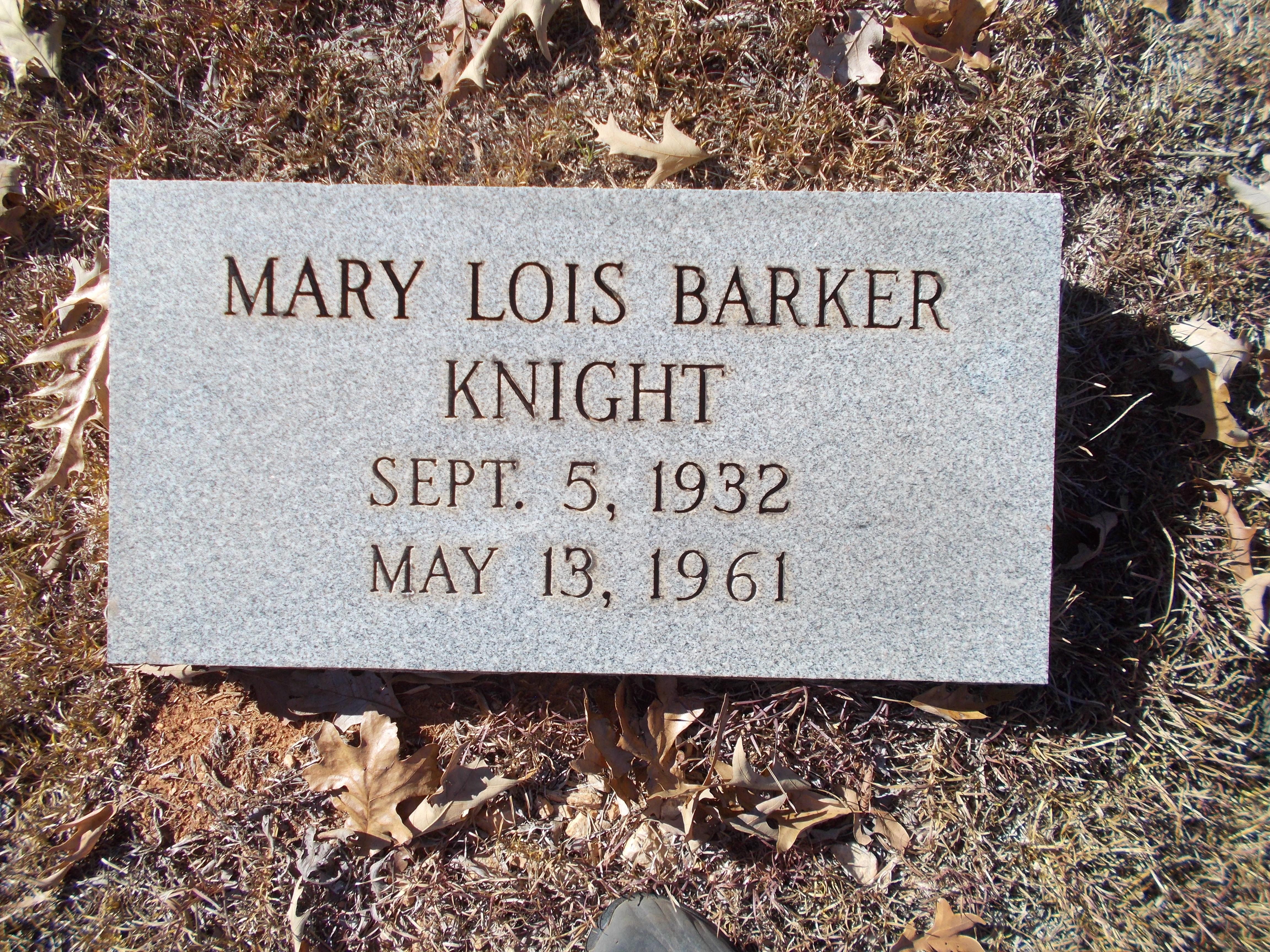 Mary L <i>Barker</i> Knight