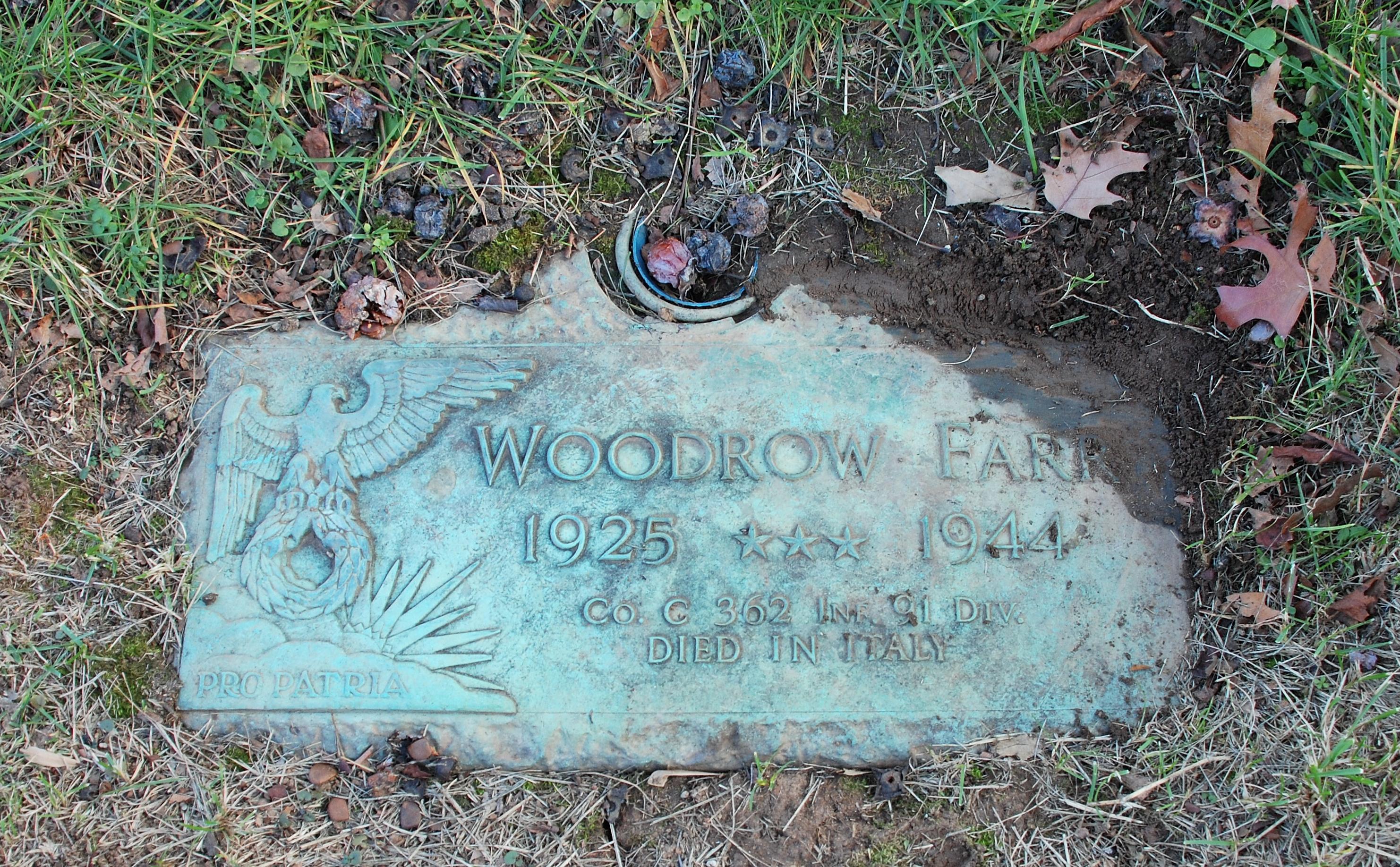 Pvt Woodrow Farr