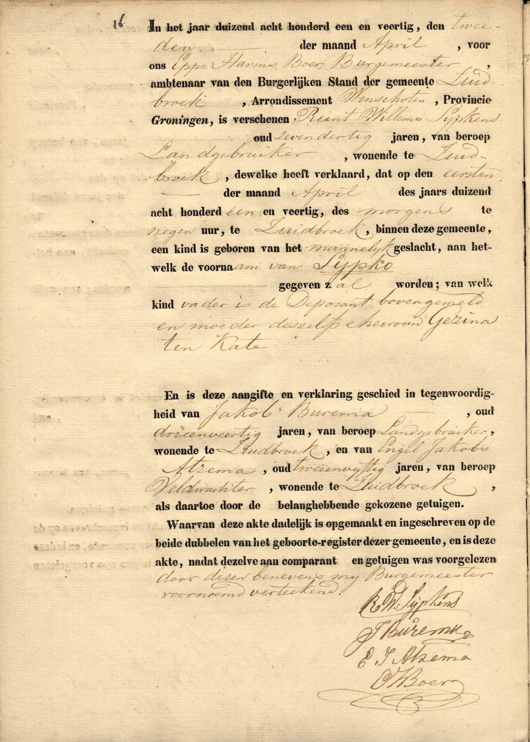 Sypko sypkens 1841 1907 find a grave memorial this is the birth certificate for sypko sypkens aiddatafo Gallery